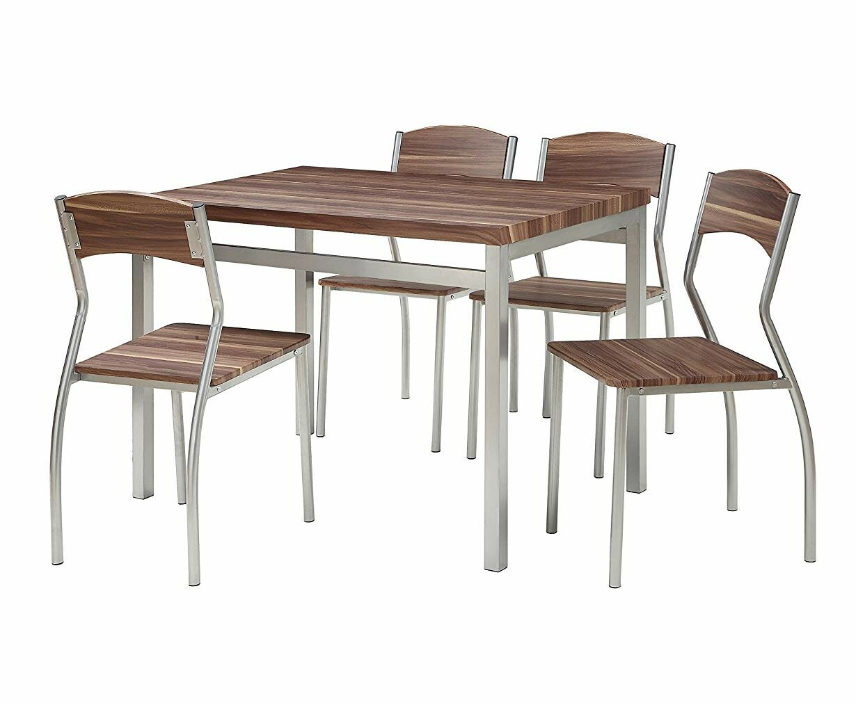 Kaelin 5 Piece Dining Set In Most Up To Date Rarick 5 Piece Solid Wood Dining Sets (Set Of 5) (Image 9 of 20)