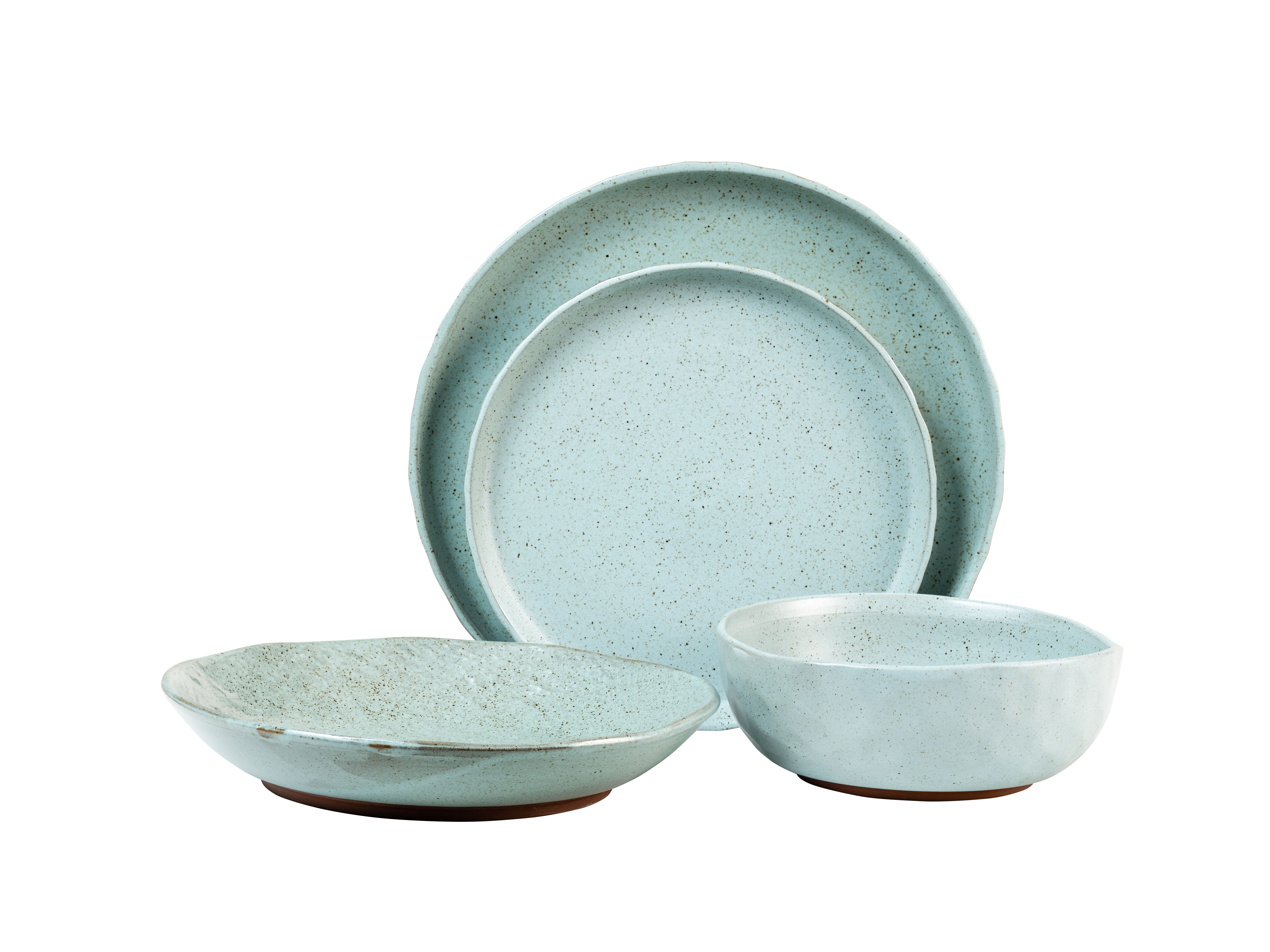 Kaya Blue 16 Piece Dinnerware Set With Most Up To Date Kaya 3 Piece Dining Sets (Image 12 of 20)
