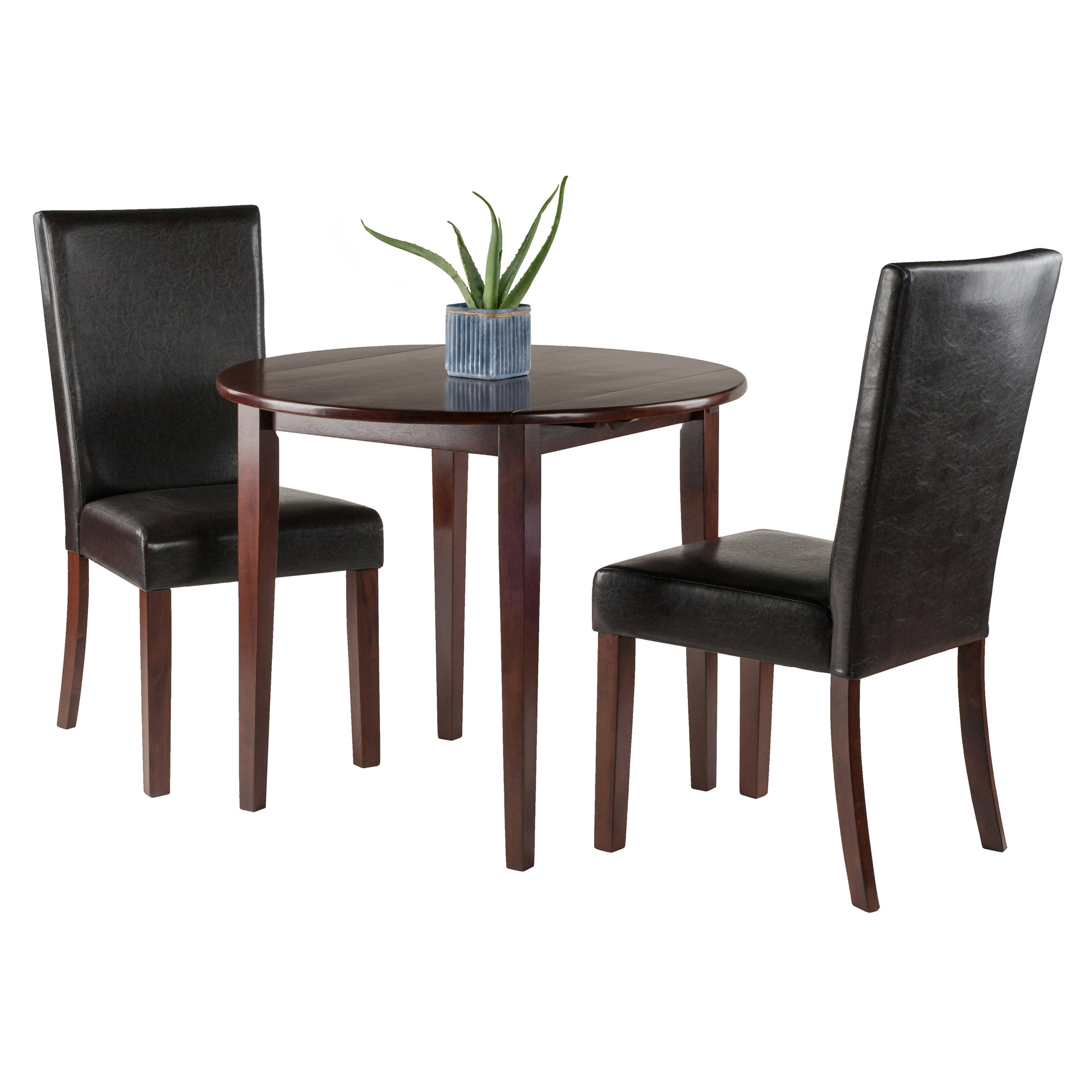 Kendall Traditional 3 Piece Drop Leaf Dining Set Intended For 2017 Baillie 3 Piece Dining Sets (Image 9 of 20)