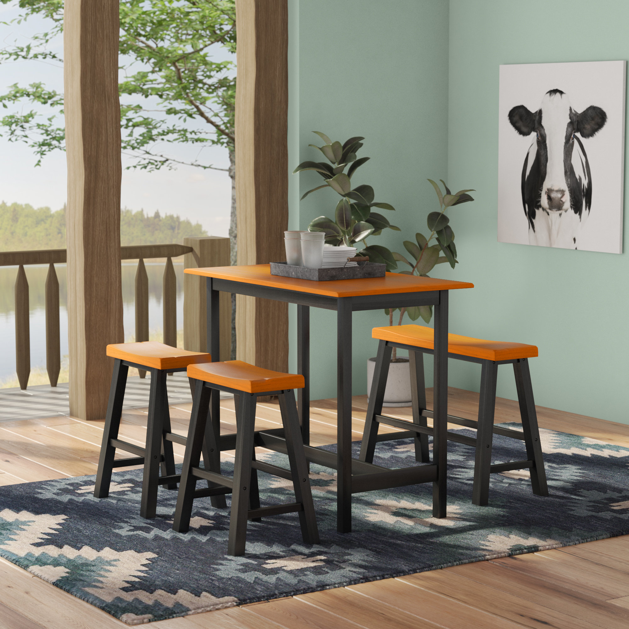 Featured Image of Kerley 4 Piece Dining Sets