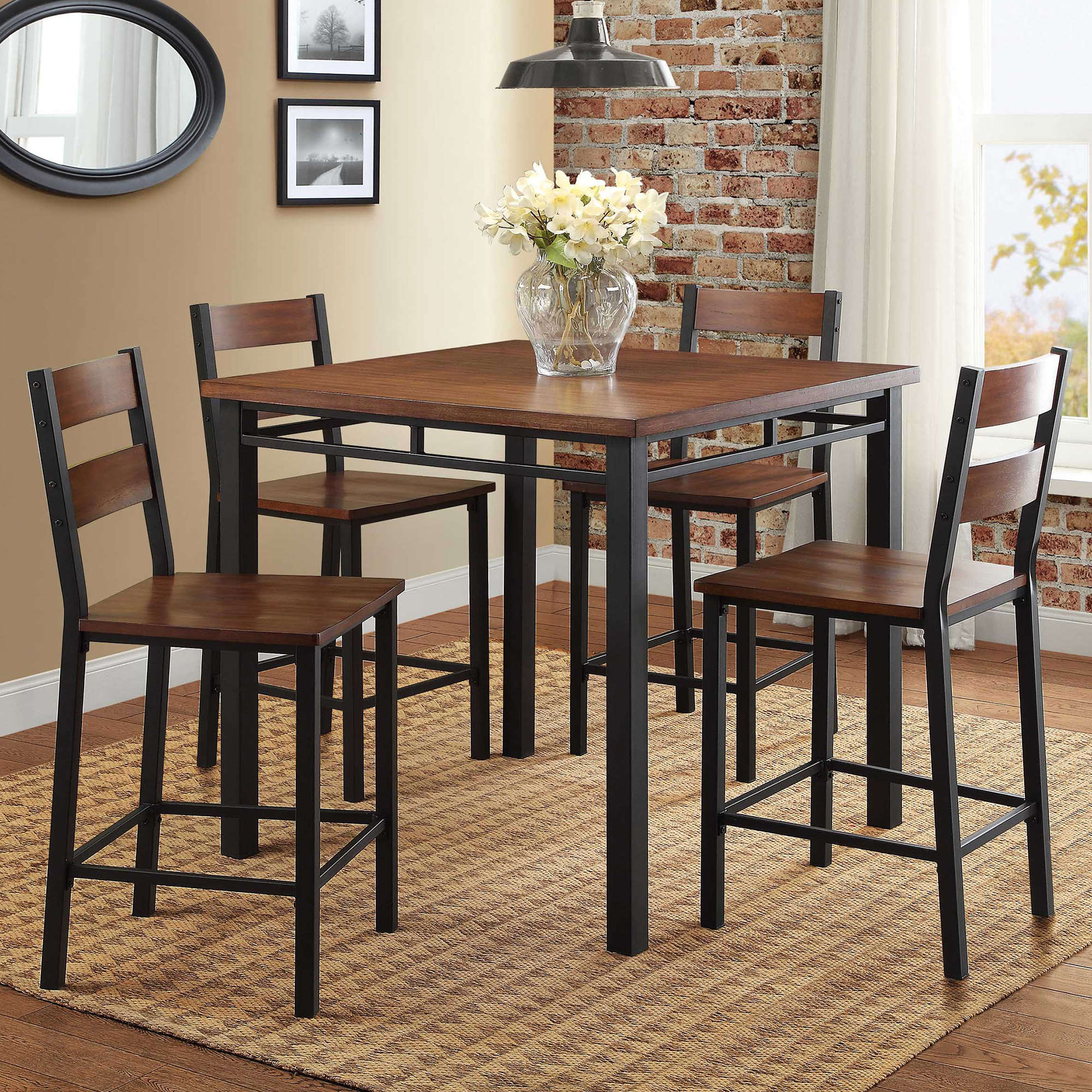 Kitchen & Dining Furniture – Walmart For Latest Ligon 3 Piece Breakfast Nook Dining Sets (Image 9 of 20)
