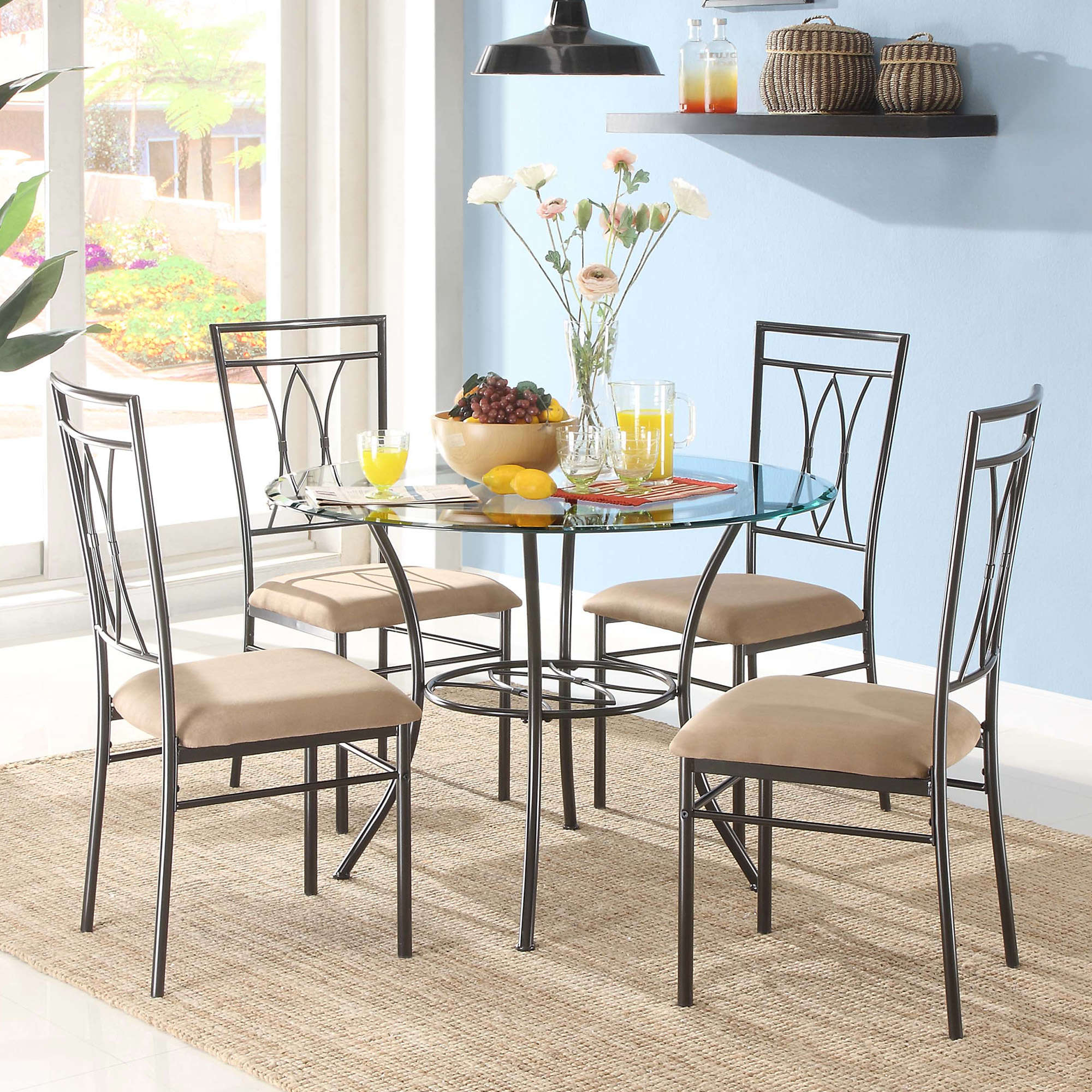 Kitchen & Dining Furniture – Walmart Throughout 2017 Moorehead 3 Piece Counter Height Dining Sets (View 13 of 20)