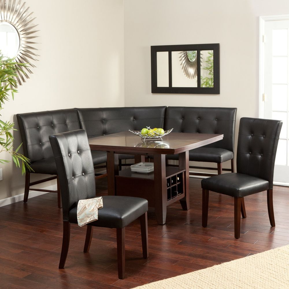 Kitchen Table Nook Dining Set – Home Decor Photos Gallery For Latest Northwoods 3 Piece Dining Sets (Image 9 of 20)