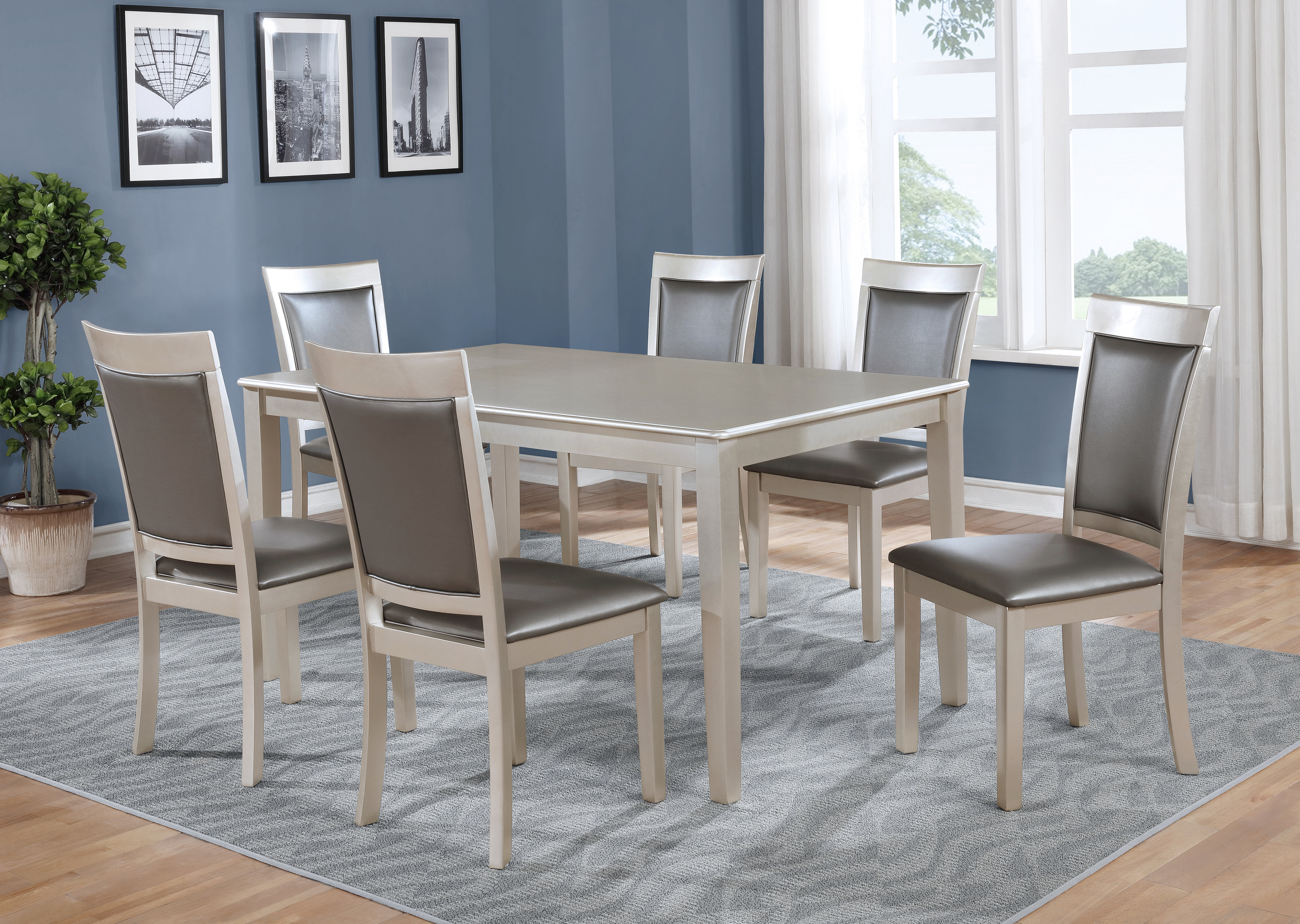 Kitterman 7 Piece Dining Set Throughout Most Current Springfield 3 Piece Dining Sets (View 9 of 20)
