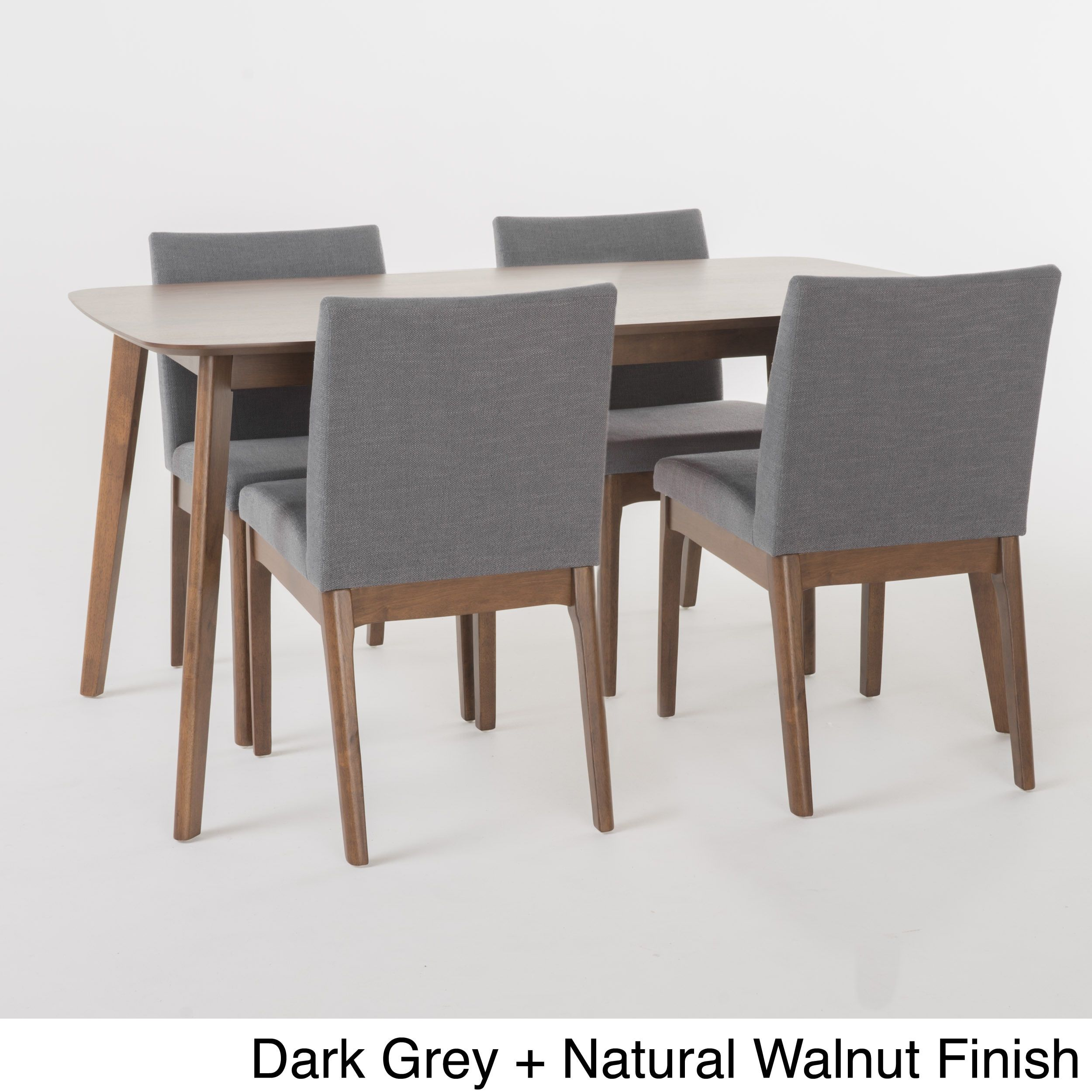 Kwame Mid Century 5 Piece Rectangle Dining Setchristopher Knight With Most Up To Date Sundberg 5 Piece Solid Wood Dining Sets (Image 7 of 20)
