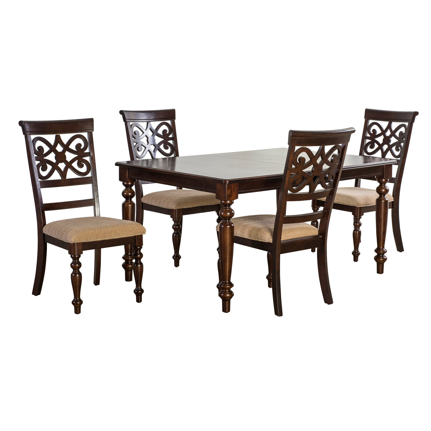 Laconia 5 Piece Extendable Dining Set Regarding 2017 Laconia 7 Pieces Solid Wood Dining Sets (Set Of 7) (View 8 of 20)