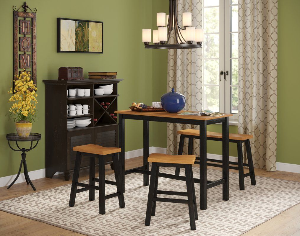 Lamantia 4 Piece Counter Height Pub Table Set | Will Apartment Within Best And Newest Moorehead 3 Piece Counter Height Dining Sets (View 9 of 20)