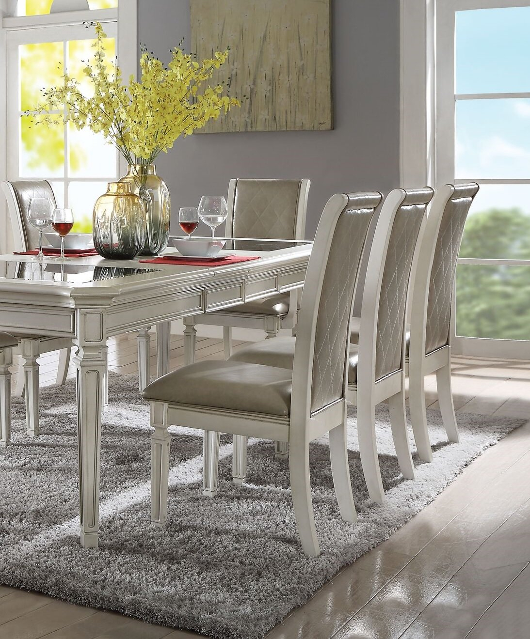 Lamotte Upholstered Dining Chair Intended For Newest Lamotte 5 Piece Dining Sets (Image 12 of 20)
