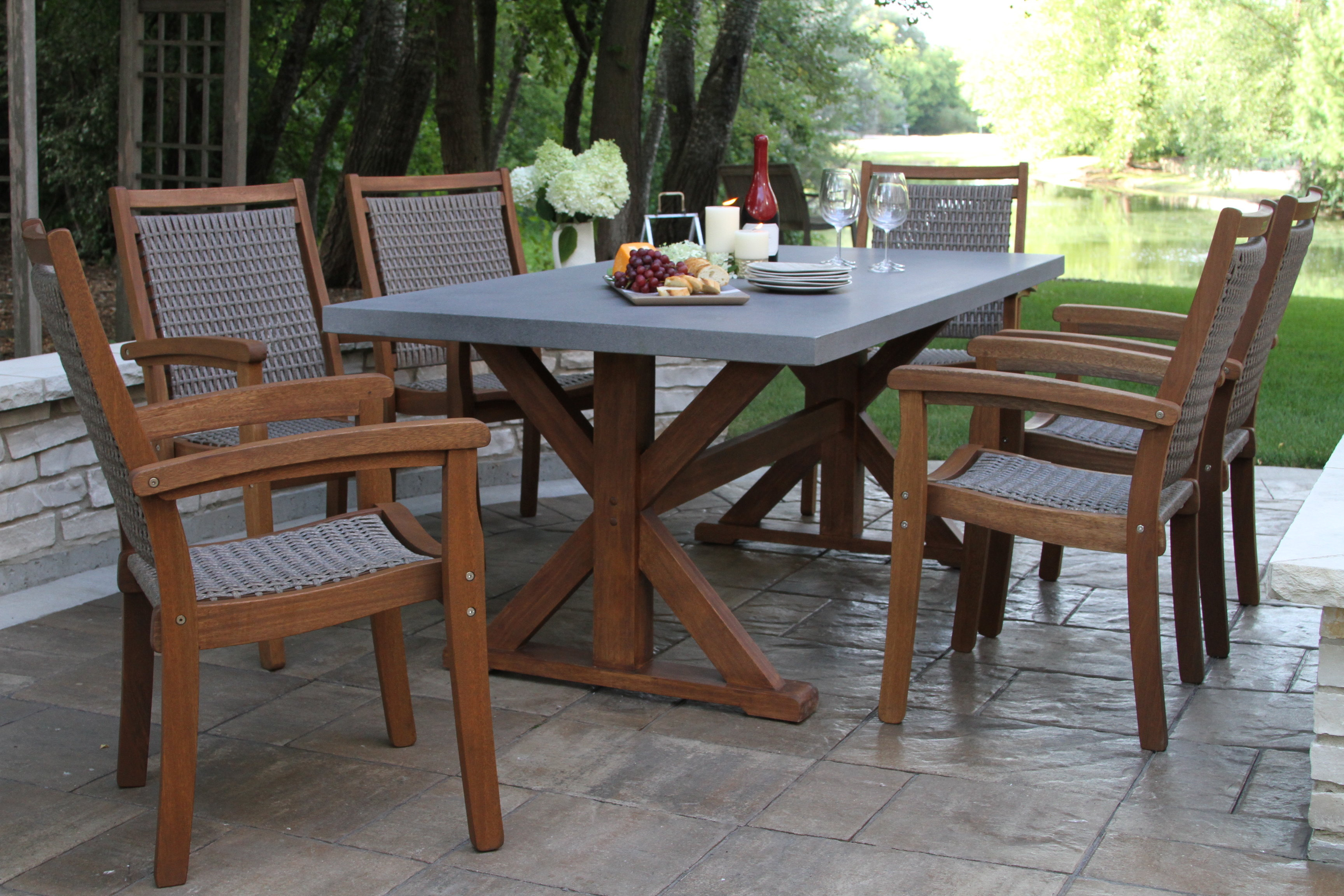 Langley Street Rhett 7 Piece Dining Set & Reviews | Wayfair Pertaining To Recent Rossi 5 Piece Dining Sets (Image 9 of 20)