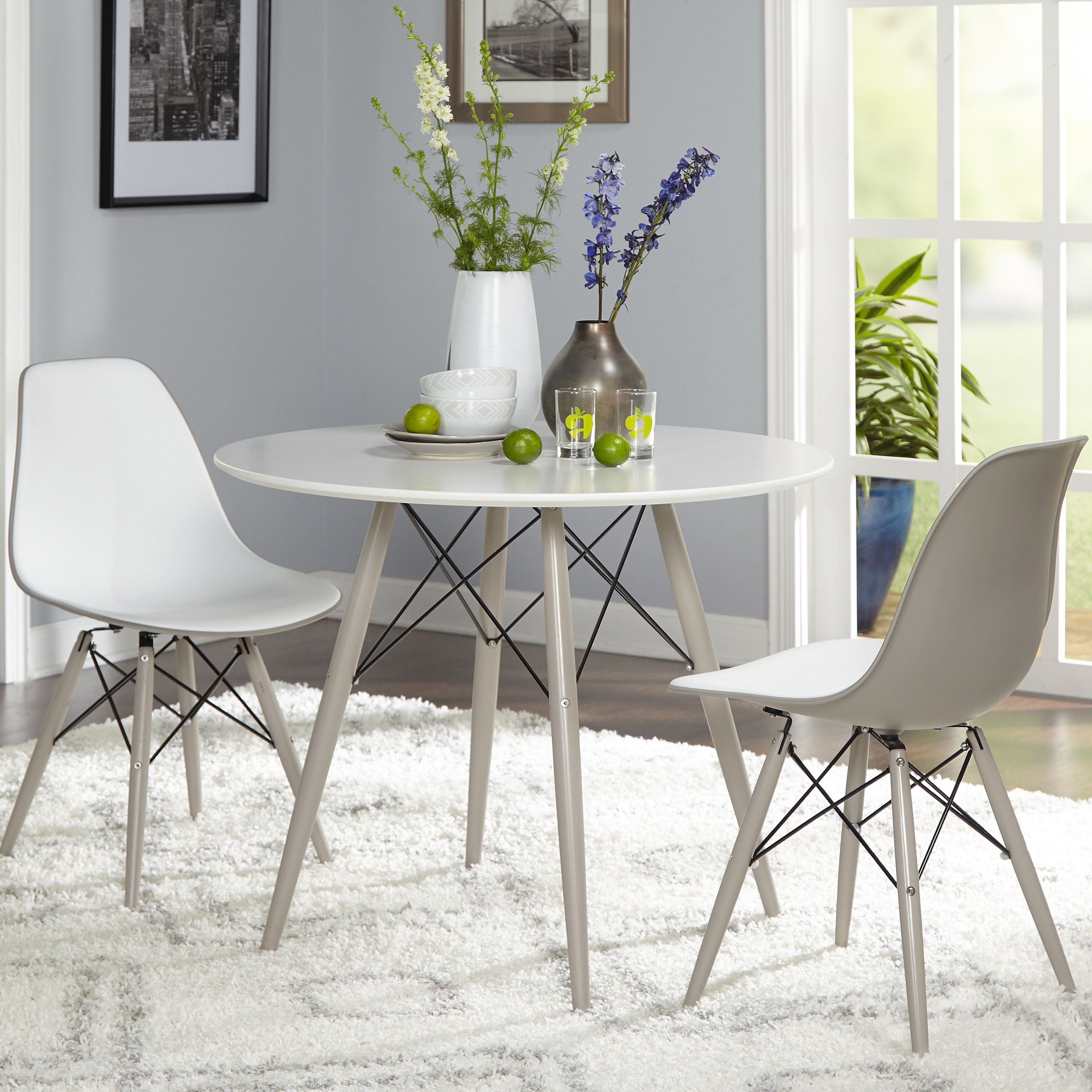 Langley Street Richardson 3 Piece Dining Set In Most Current Travon 5 Piece Dining Sets (View 20 of 20)