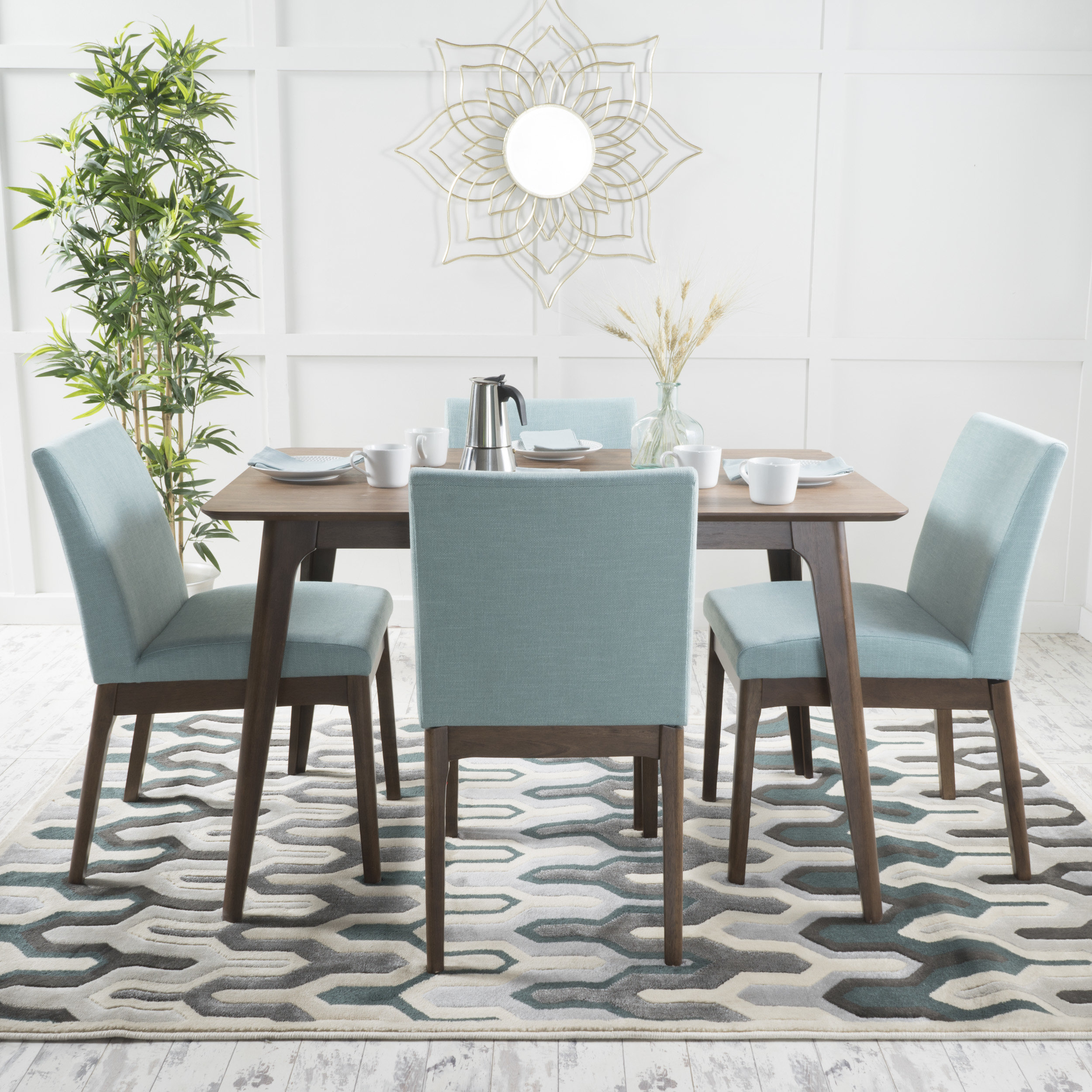 Langley Street Tunis 5 Piece Dining Set With Regard To Recent Tejeda 5 Piece Dining Sets (View 17 of 20)