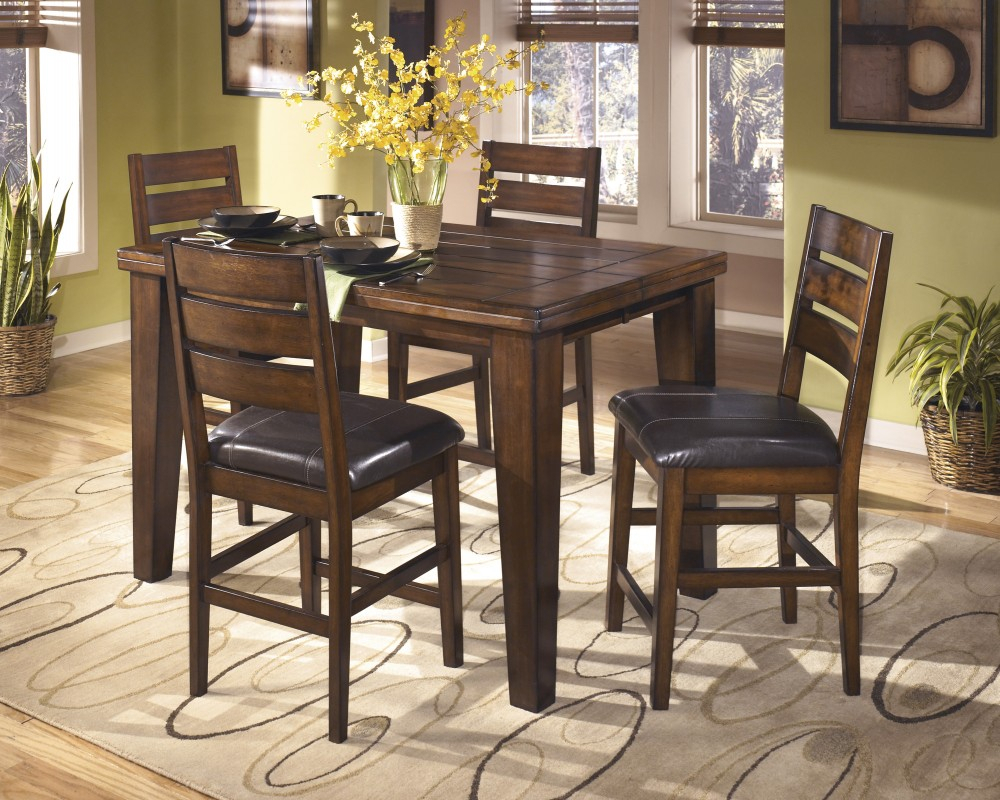 Larchmont Butterfly Ext Table & 4 Uph Bar Stools Intended For Most Current Tappahannock 3 Piece Counter Height Dining Sets (Image 12 of 20)