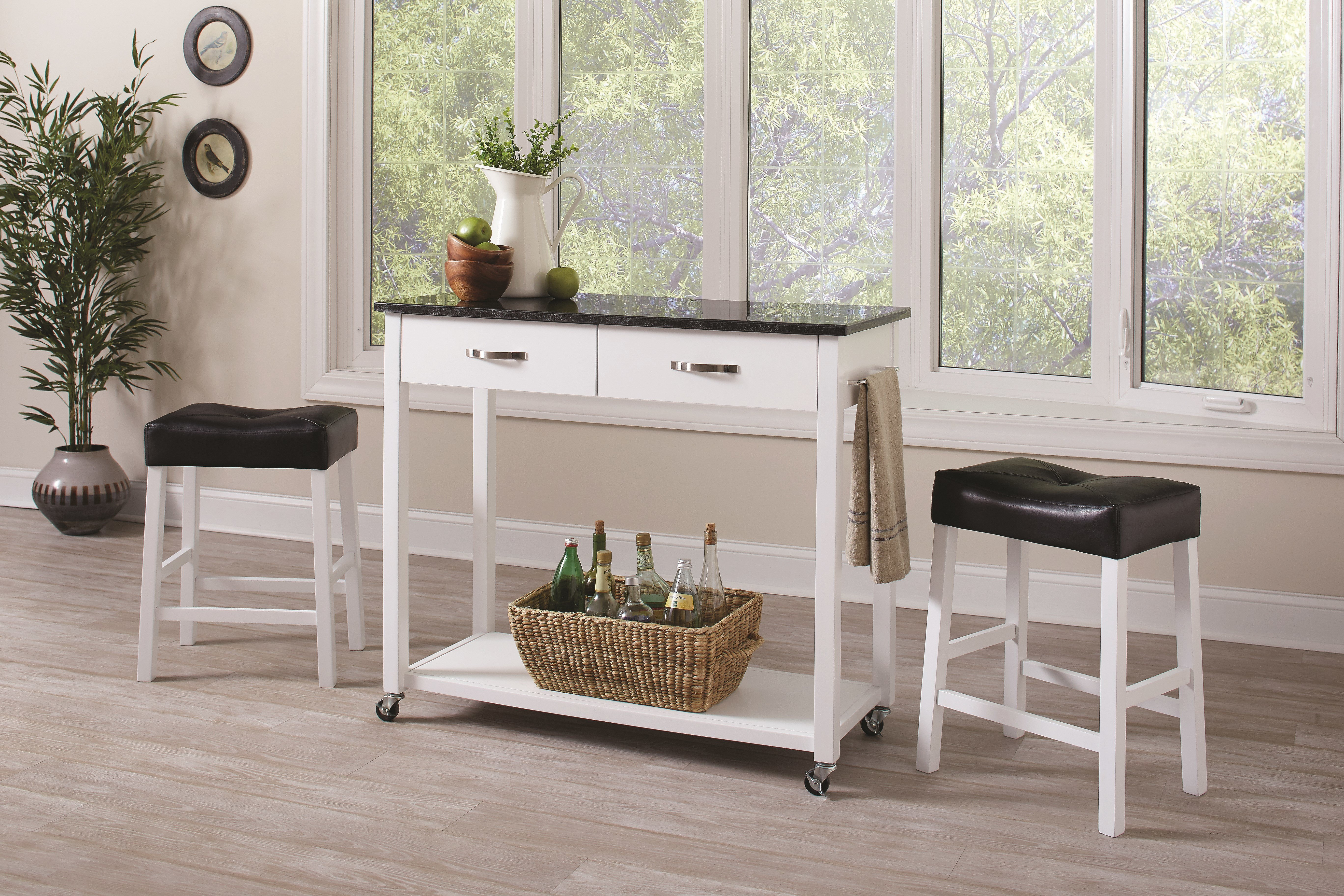 Latitude Run Danae 3 Piece Dining Set Inside Best And Newest Kernville 3 Piece Counter Height Dining Sets (Image 9 of 20)