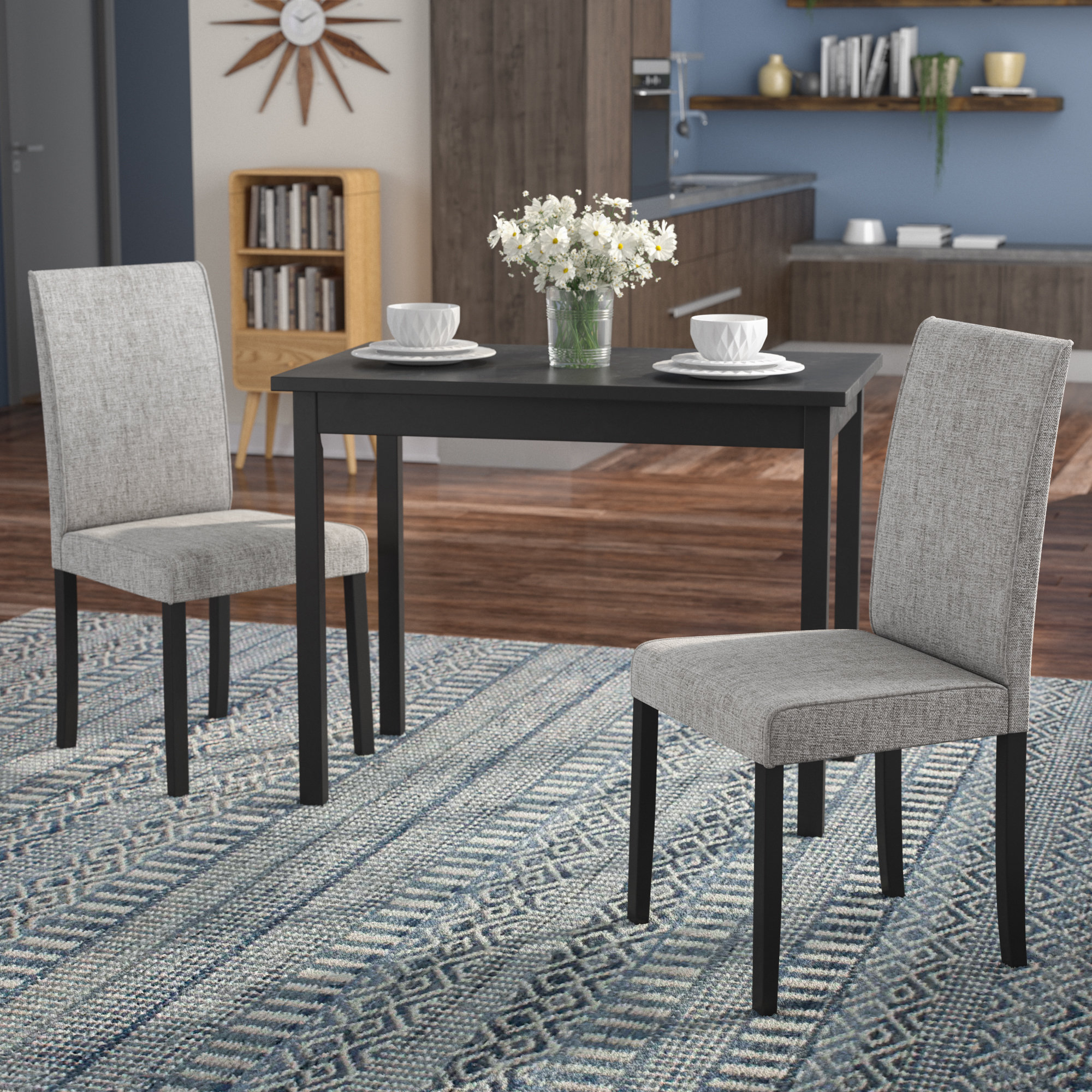 Latitude Run Darvell 3 Piece Dining Set & Reviews | Wayfair.ca With Regard To Most Current Isolde 3 Piece Dining Sets (Photo 3 of 20)
