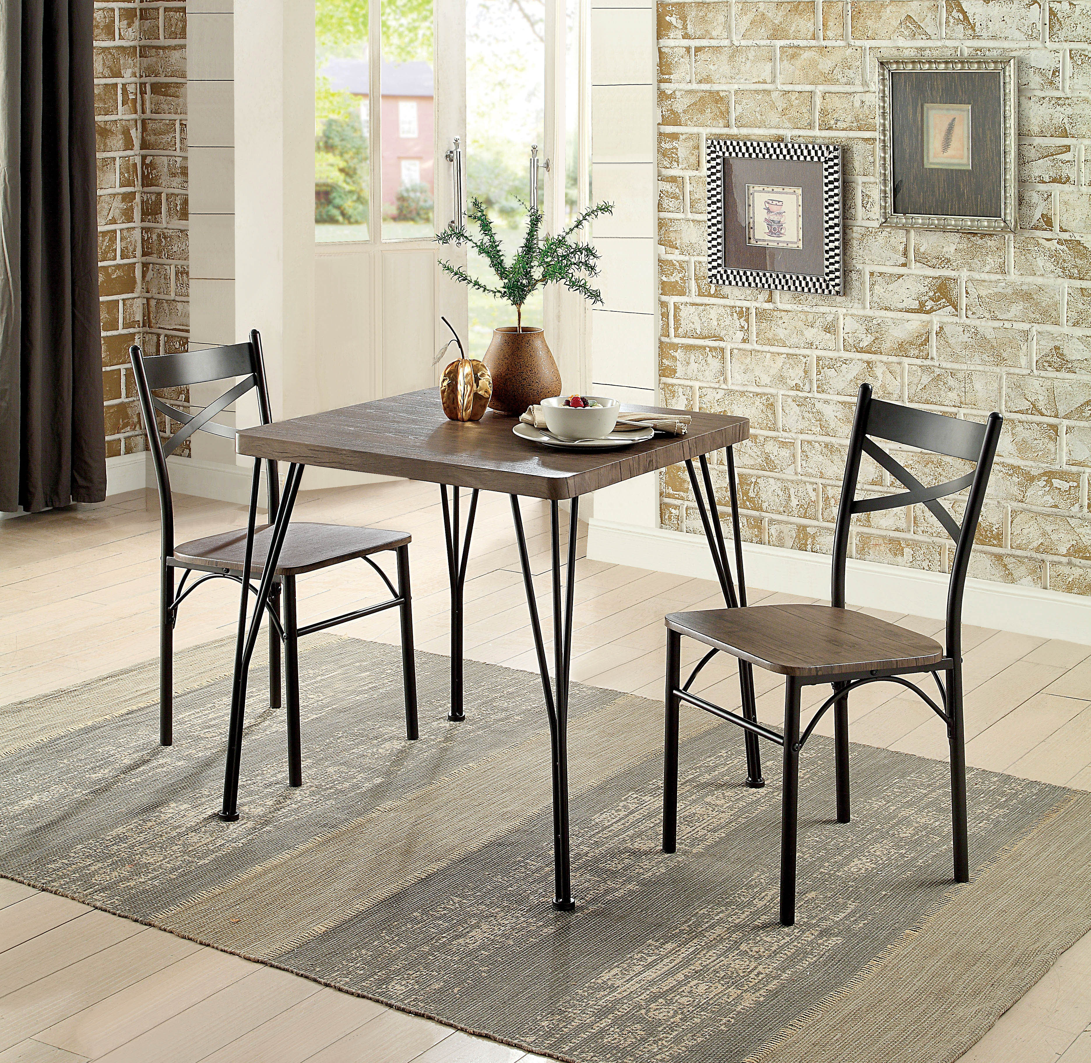Laurel Foundry Modern Farmhouse Guertin 3 Piece Dining Set & Reviews With Most Up To Date Mulvey 5 Piece Dining Sets (Image 12 of 20)