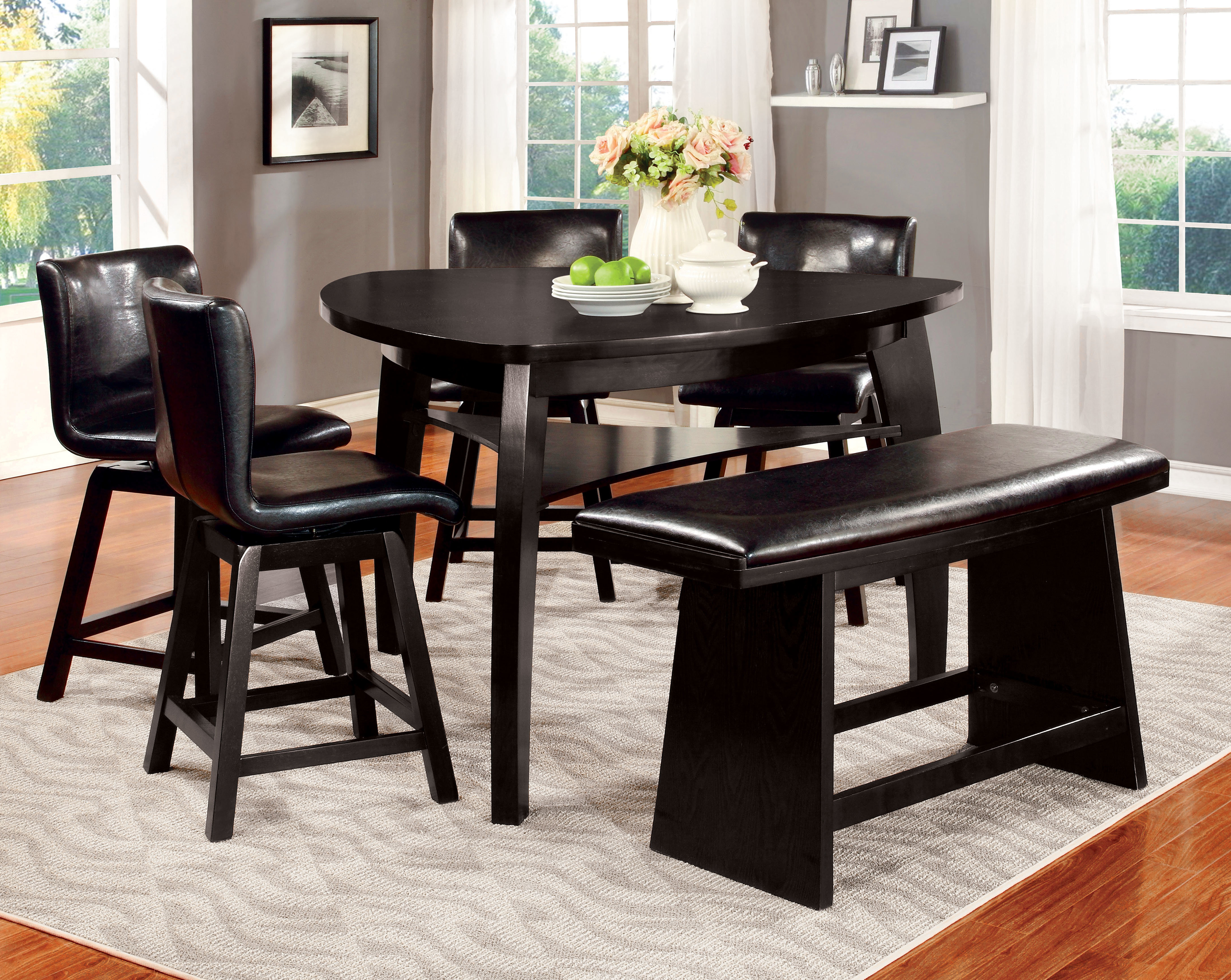Lawrence 6 Piece Counter Height Pub Table Set With Regard To 2018 Anette 3 Piece Counter Height Dining Sets (View 14 of 20)