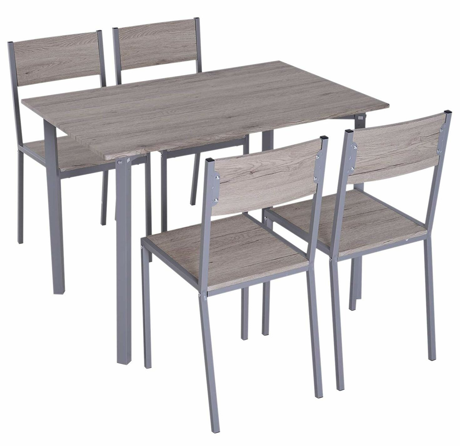 Legros Modern Compact 5 Piece Dining Set Inside Best And Newest Maloney 3 Piece Breakfast Nook Dining Sets (Image 8 of 20)