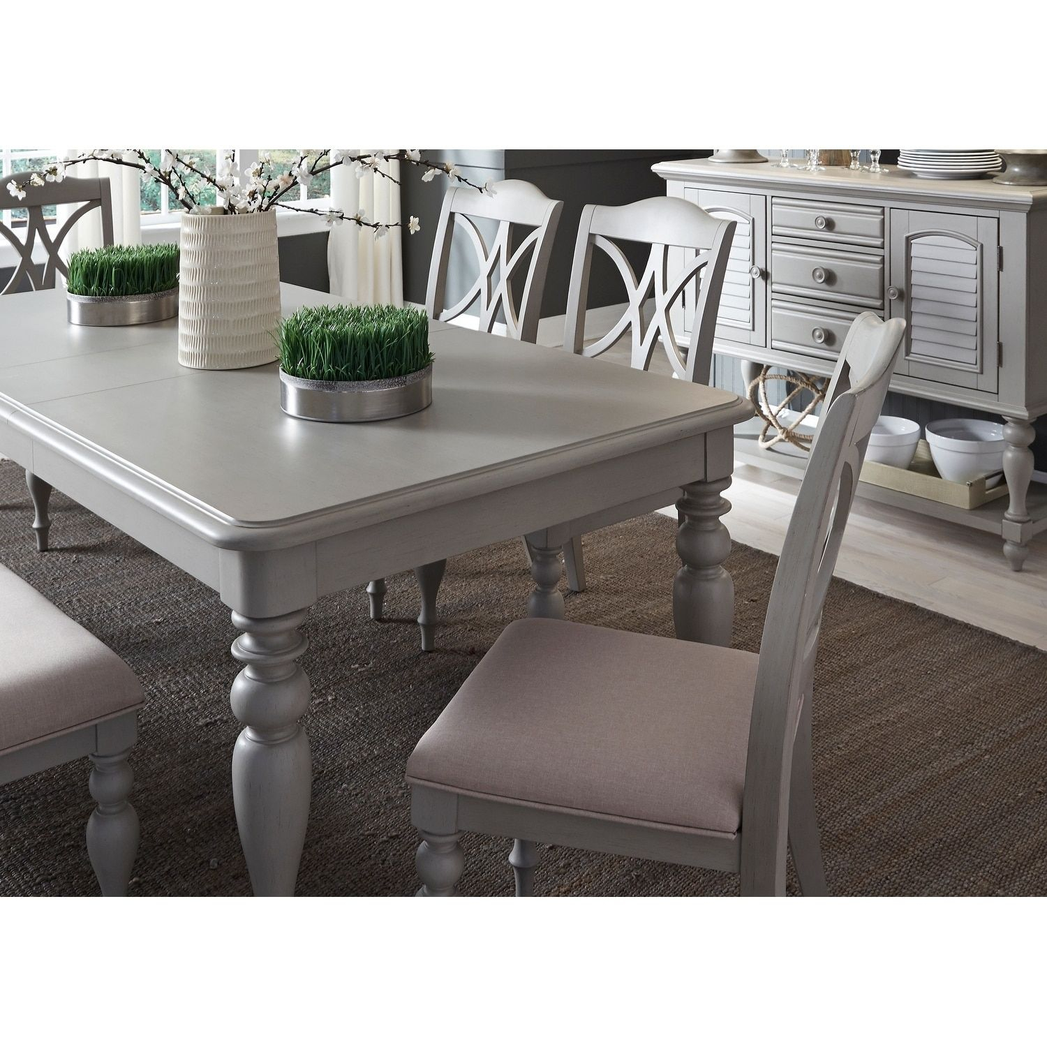 Liberty Summer House 40X78 Dove Gray Rectangular Dinette Table With Most Up To Date Lamotte 5 Piece Dining Sets (Image 13 of 20)