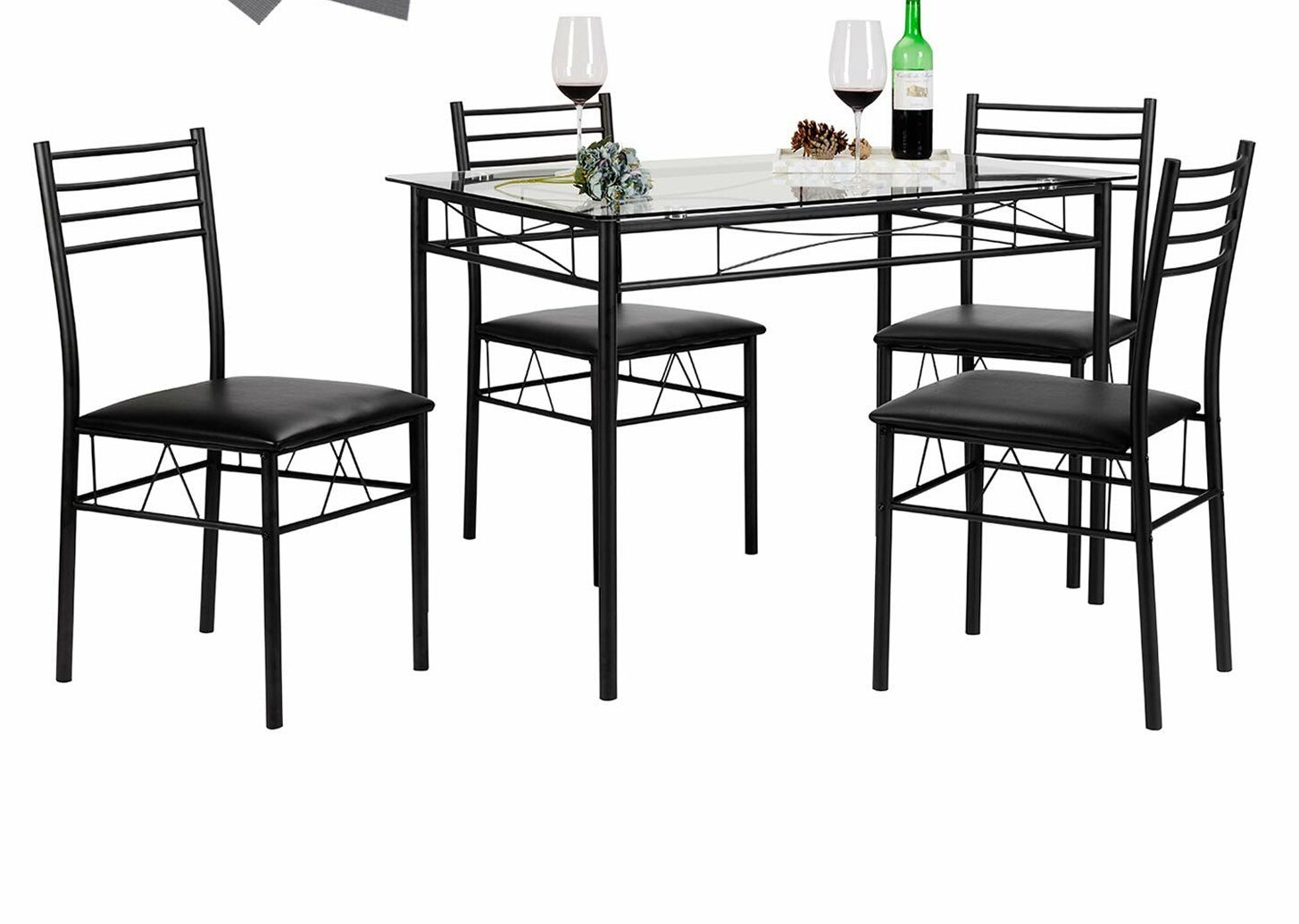 Featured Image of Lightle 5 Piece Breakfast Nook Dining Sets