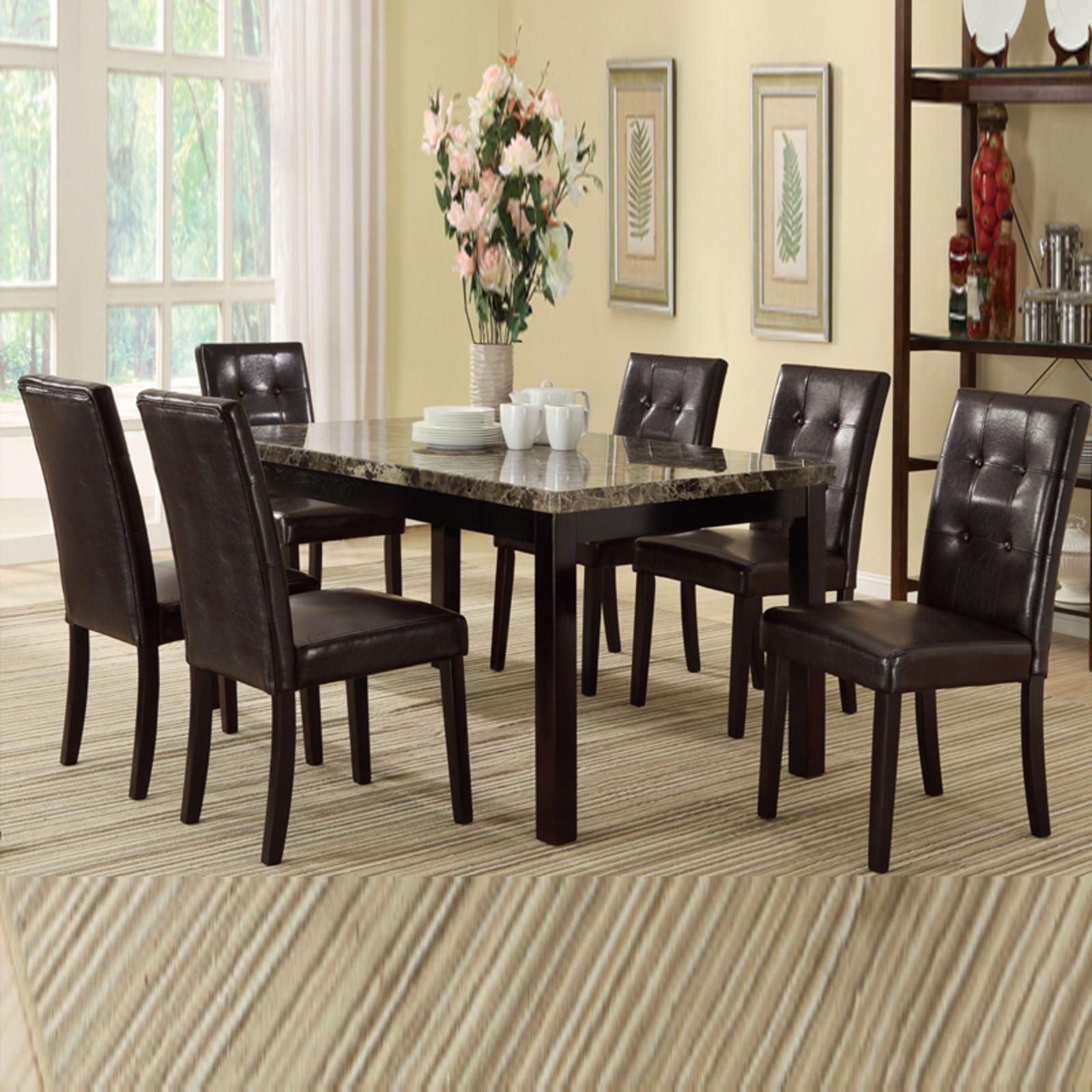 Lightle 5 Piece Breakfast Nook Dining Set | Welcome Home | Glass For Most Up To Date Lightle 5 Piece Breakfast Nook Dining Sets (Image 11 of 20)