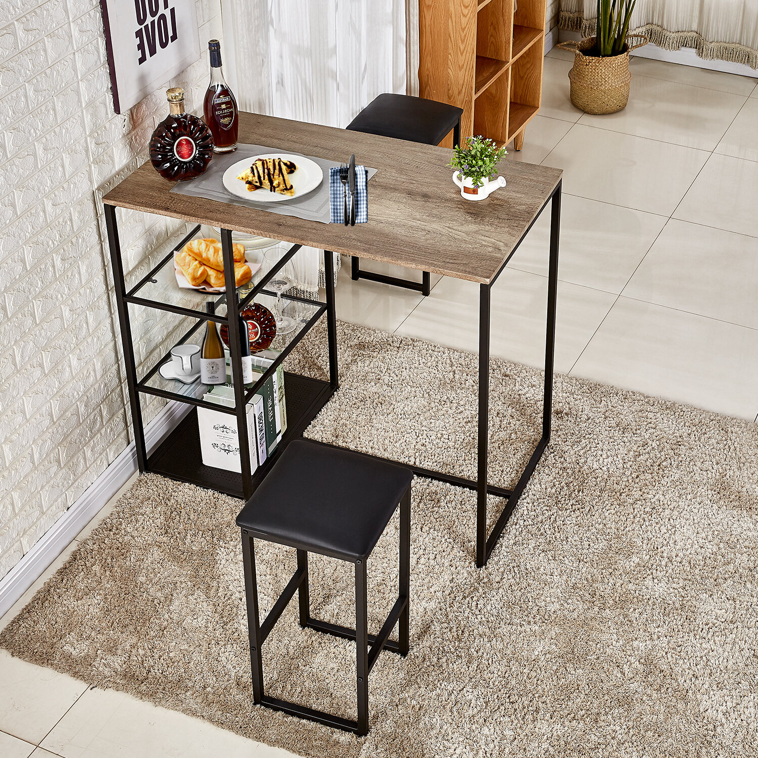 Ligon 3 Piece Breakfast Nook Dining Set Within Best And Newest Lillard 3 Piece Breakfast Nook Dining Sets (View 2 of 20)