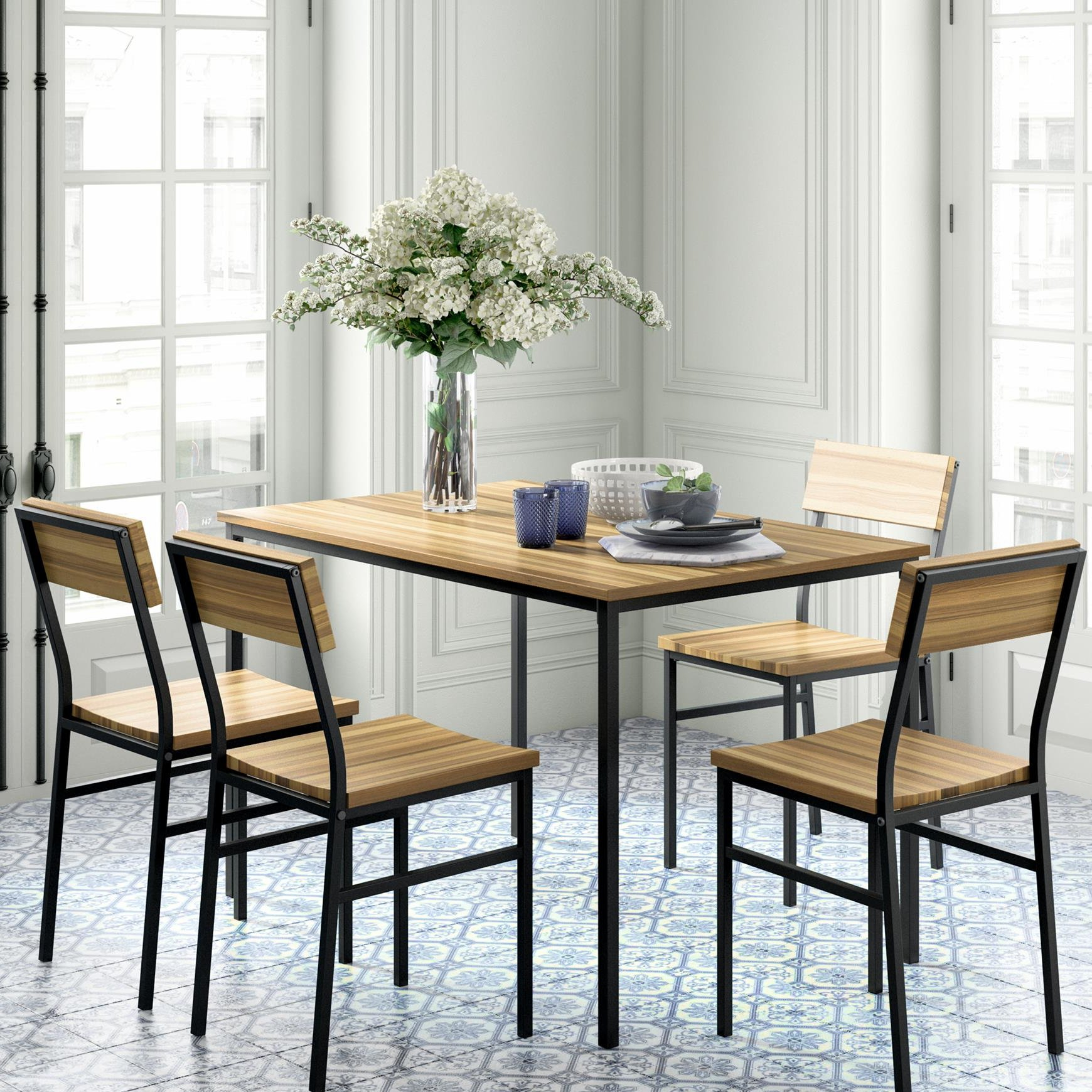 Linden 5 Piece Dining Set For Best And Newest Kieffer 5 Piece Dining Sets (View 3 of 20)