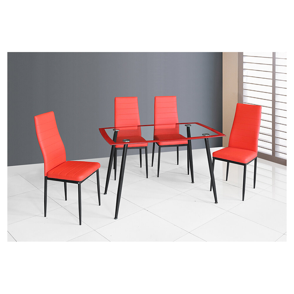 Linette 5 Piece Dining Table Set Throughout Most Popular Castellanos Modern 5 Piece Counter Height Dining Sets (Image 8 of 20)