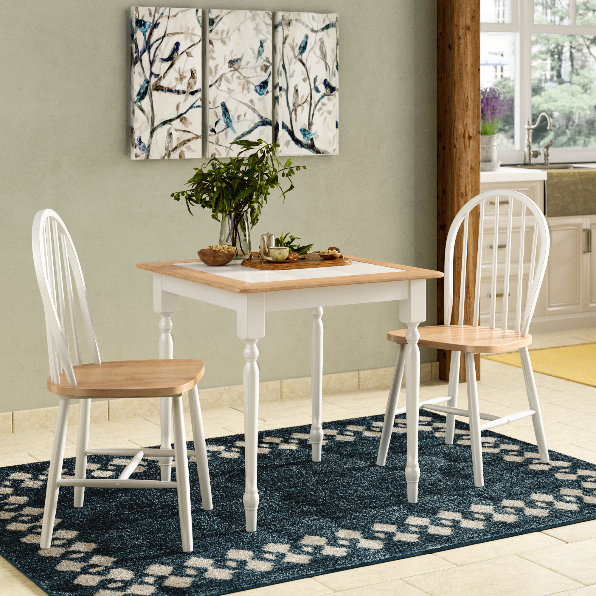 Llanas 3 Piece Dining Set In Most Up To Date Kinsler 3 Piece Bistro Sets (Image 14 of 20)