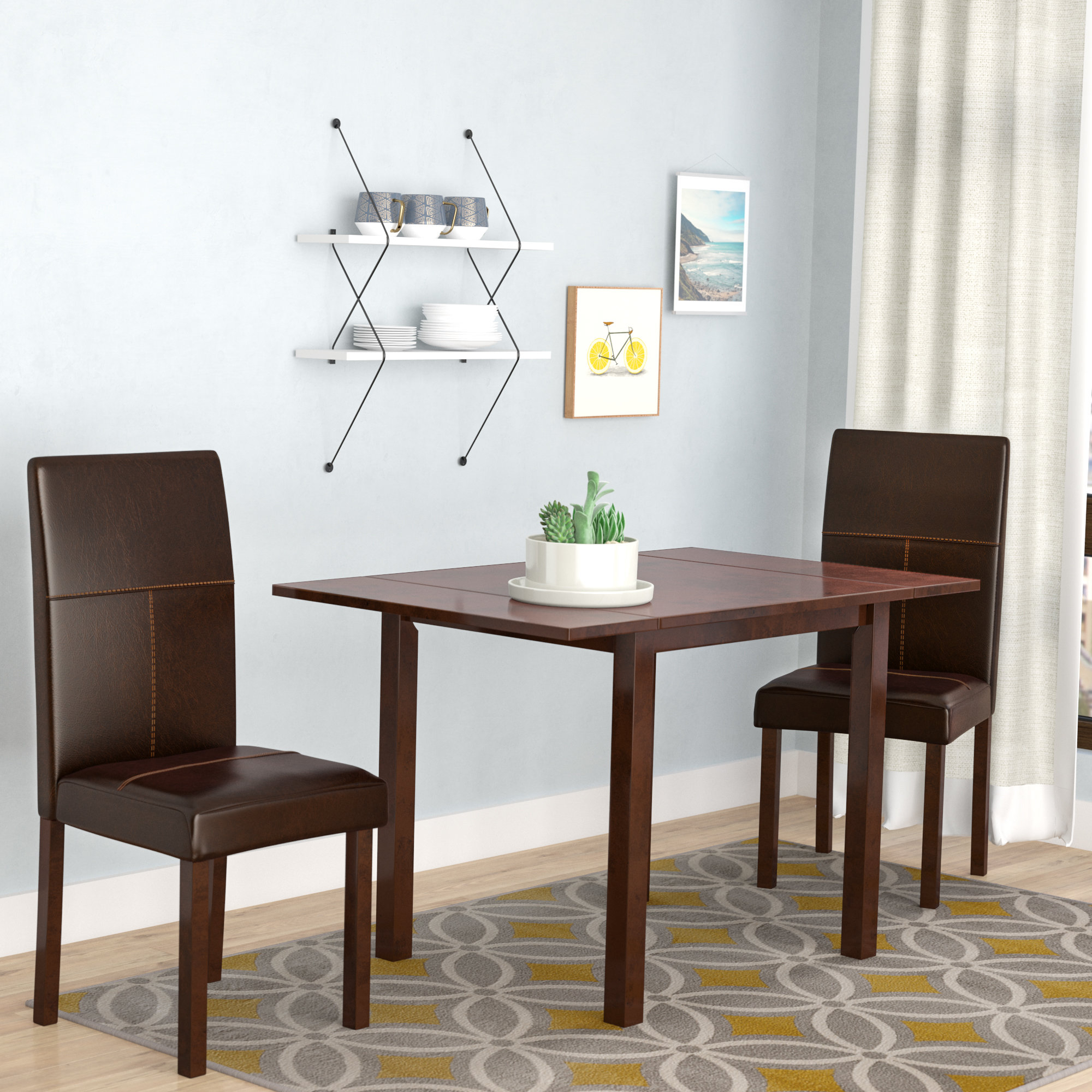 Lorenzen 3 Piece Dining Set In Most Recently Released Baillie 3 Piece Dining Sets (Photo 3 of 20)