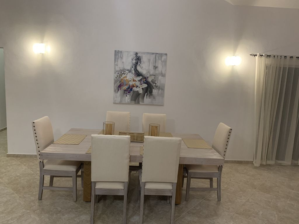Luxury Sosua Villa 110 3Br 2B – Urbanizacion Tavarez Intended For Best And Newest Tavarez 5 Piece Dining Sets (Photo 18 of 20)