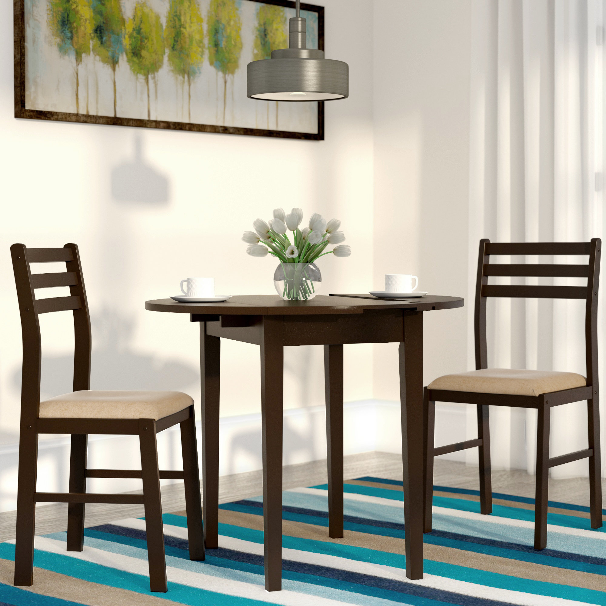 Lynbrook 3 Piece Dining Set With Current Kinsler 3 Piece Bistro Sets (Photo 9 of 20)