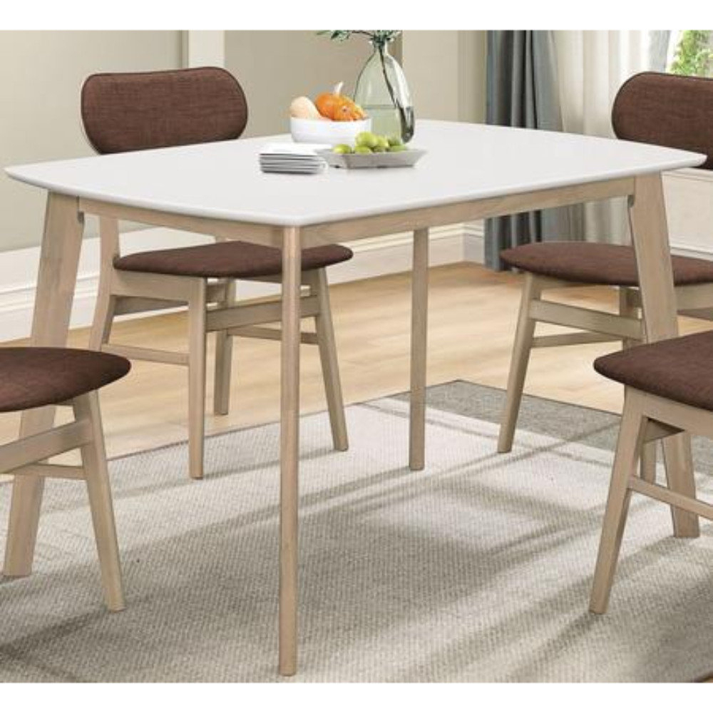Macedonia Rectangular 5 Piece Solid Wood Dining Set With Regard To Most Recently Released Weatherholt Dining Tables (View 20 of 20)