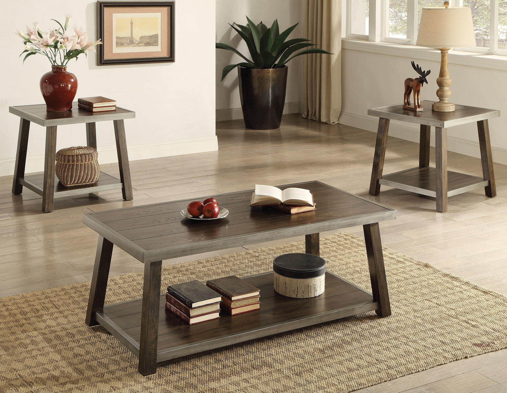 Madelia 3 Piece Coffee Table Set Inside Newest Valladares 3 Piece Pub Table Sets (View 12 of 20)