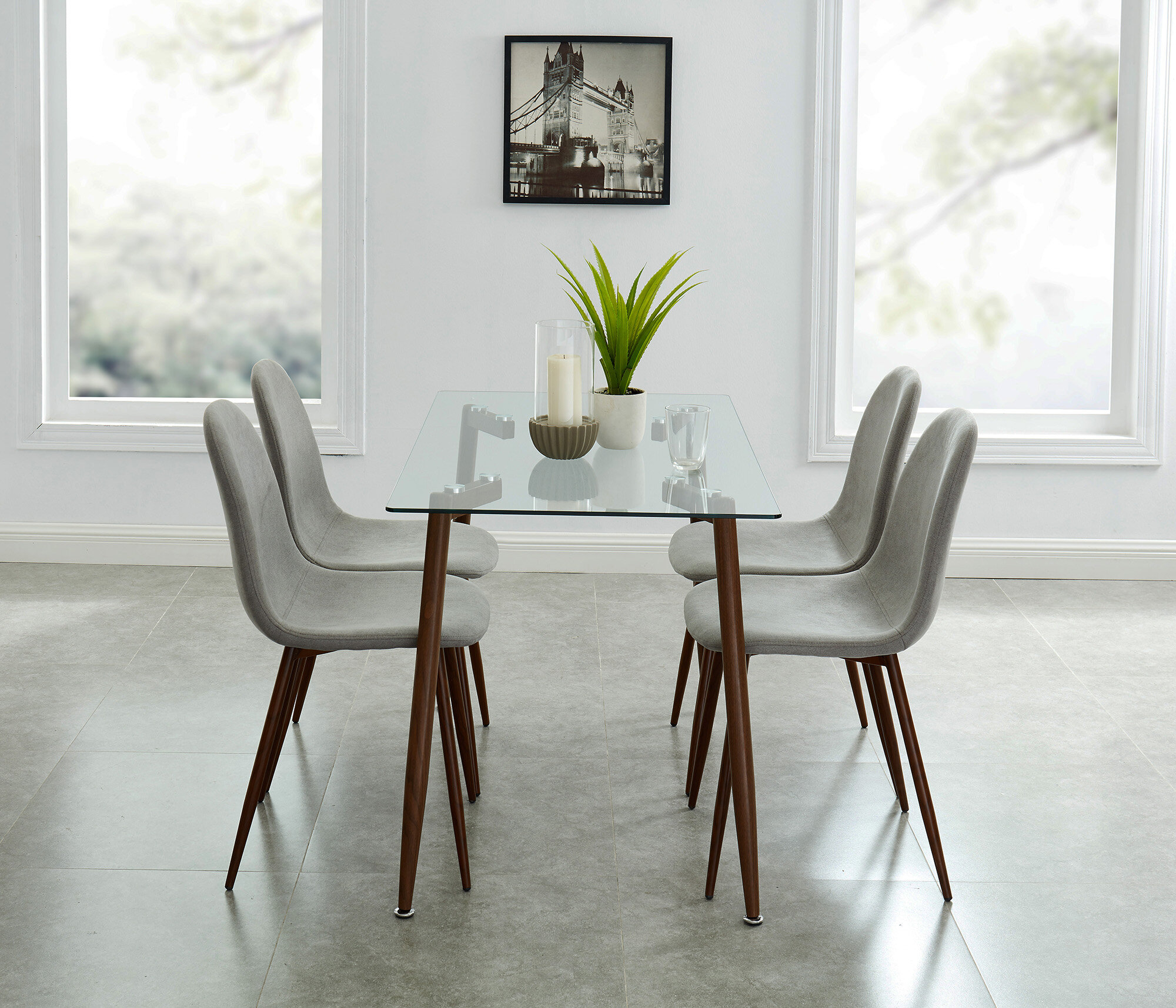 Madonna Contemporary 5 Piece Dining Set Pertaining To 2017 Travon 5 Piece Dining Sets (Photo 19 of 20)