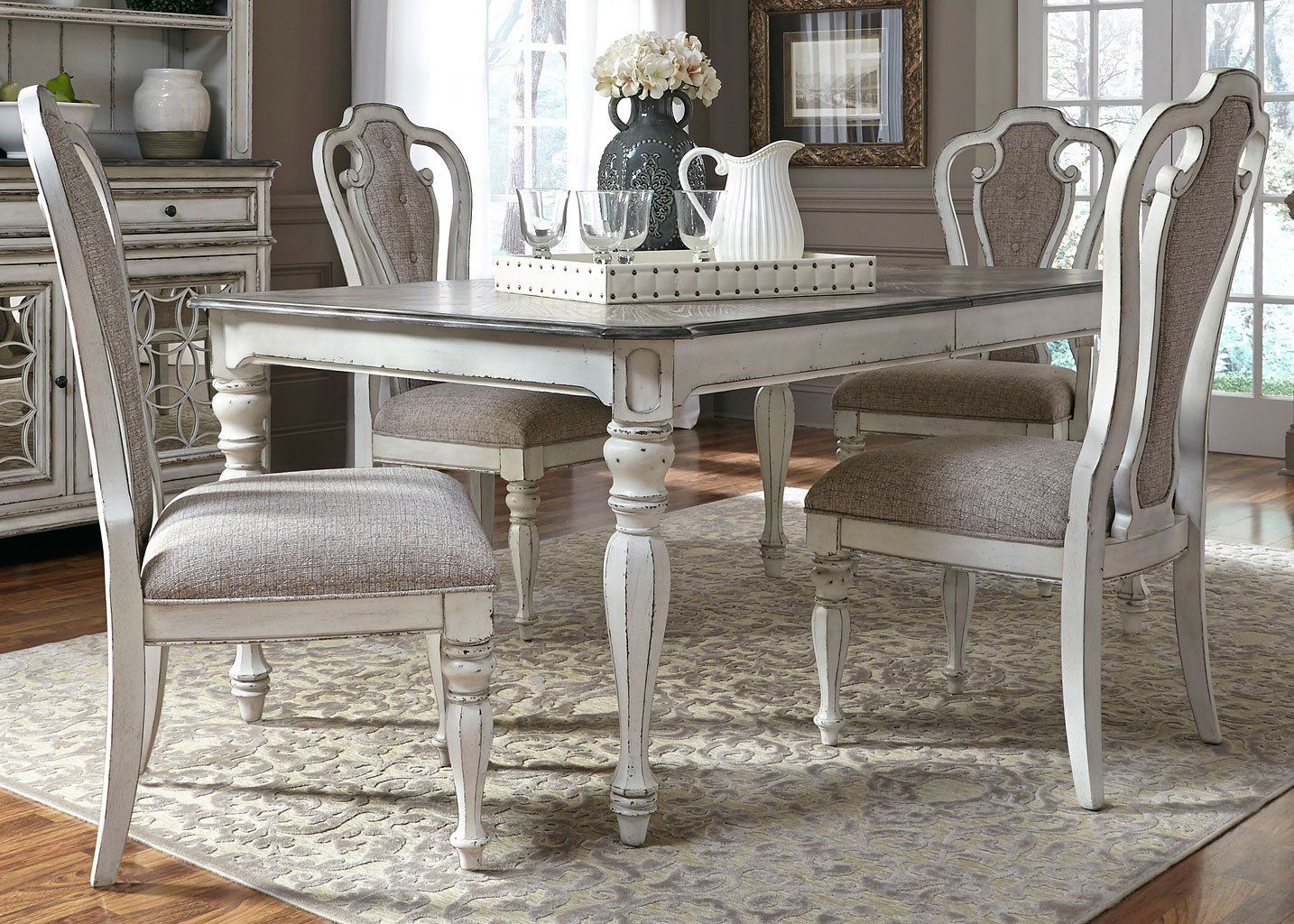 Magnolia Manor Dining Room Set W/ 90 Inch Table In 2019 | I Am Going In Newest Lamotte 5 Piece Dining Sets (Image 15 of 20)