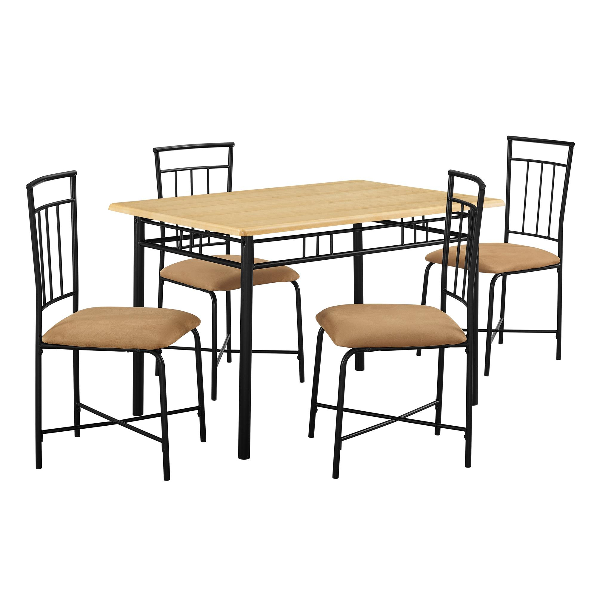 Mainstays 5 Piece Dining Set, Multiple Colors For Current West Hill Family Table 3 Piece Dining Sets (View 11 of 20)