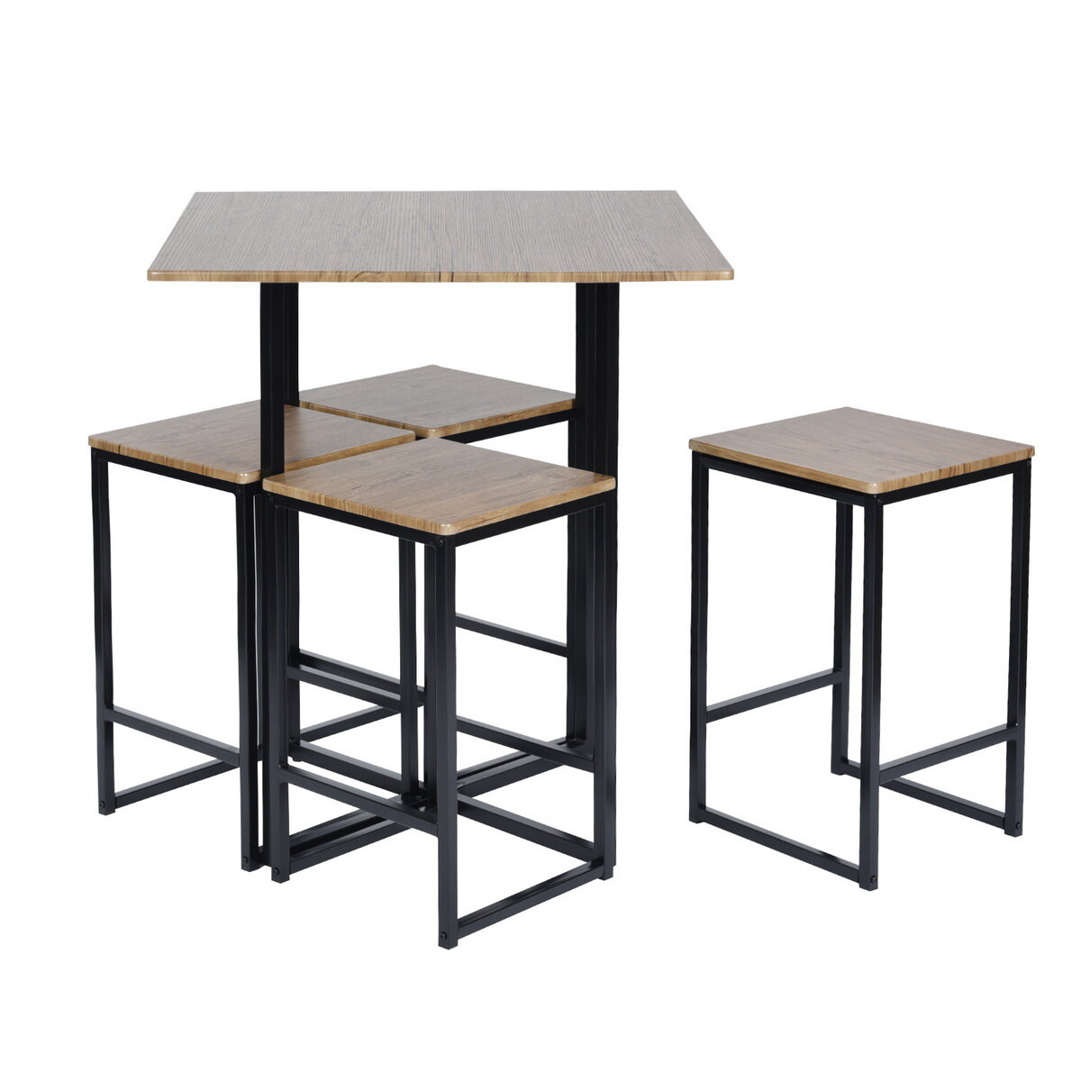 Malave 5 Piece Pub Table Set With Regard To Most Popular Castellanos Modern 5 Piece Counter Height Dining Sets (Image 9 of 20)