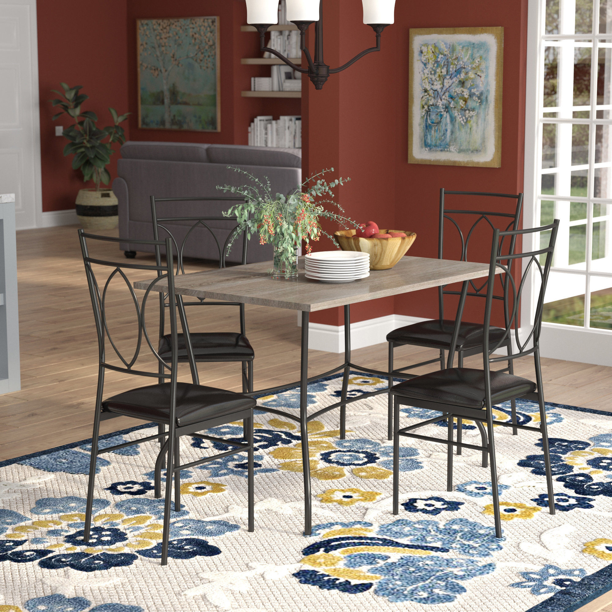 Malina 5 Piece Dining Set In Most Current Middleport 5 Piece Dining Sets (Photo 17 of 20)