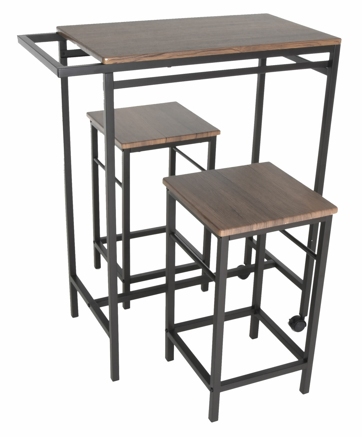 Maloney 3 Piece Pub Table Set For Newest Maloney 3 Piece Breakfast Nook Dining Sets (Image 11 of 20)
