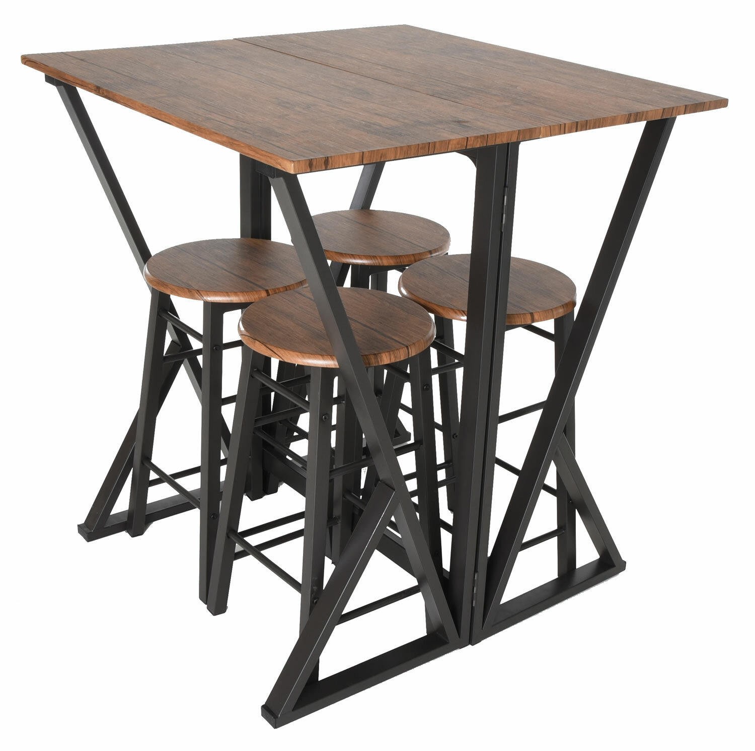 Maloney 5 Piece Pub Table Set With Regard To 2018 Maloney 3 Piece Breakfast Nook Dining Sets (Photo 8 of 20)