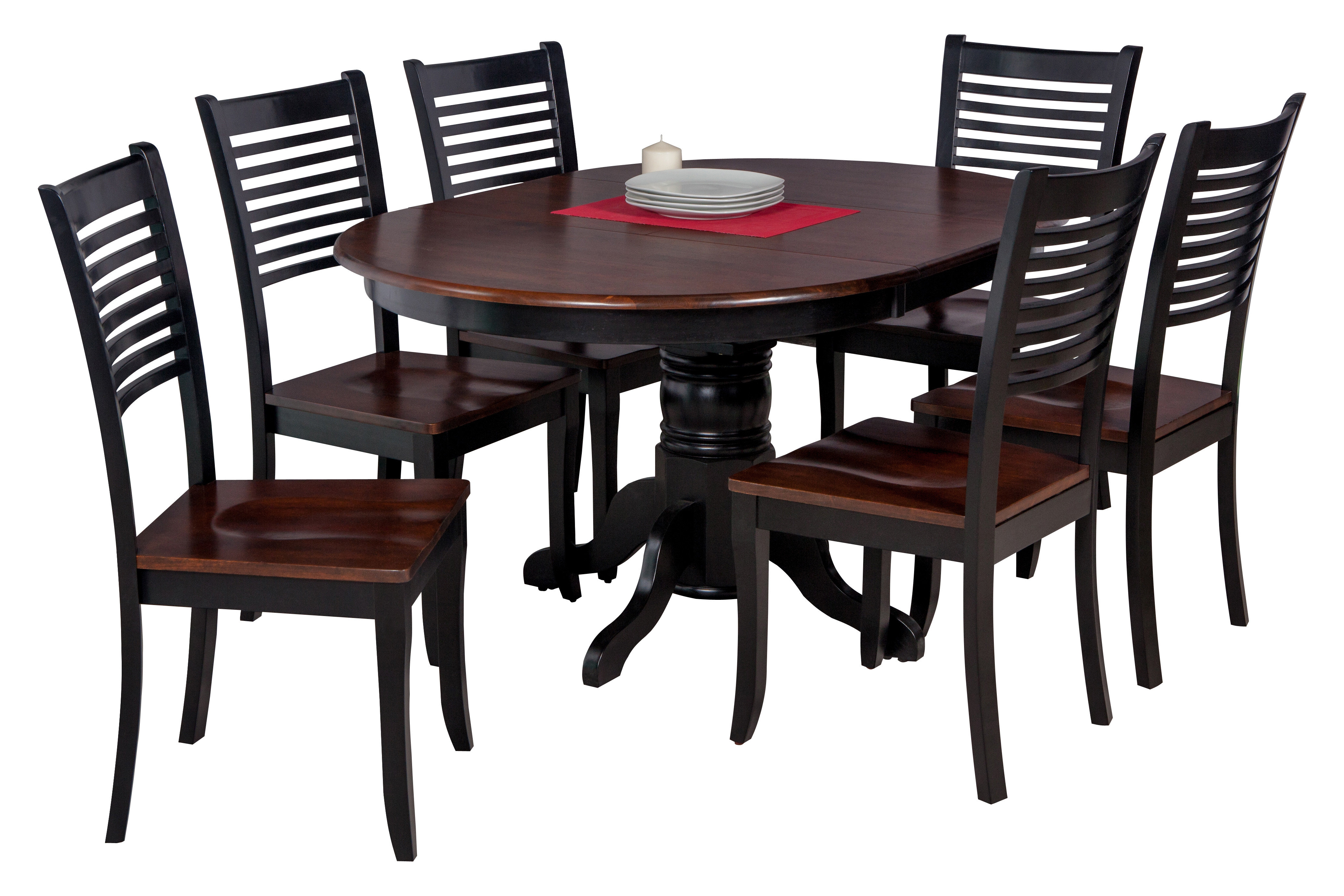Maryrose Modern 7 Piece Solid Wood Dining Set Throughout Newest Hanska Wooden 5 Piece Counter Height Dining Table Sets (Set Of 5) (Photo 7 of 20)
