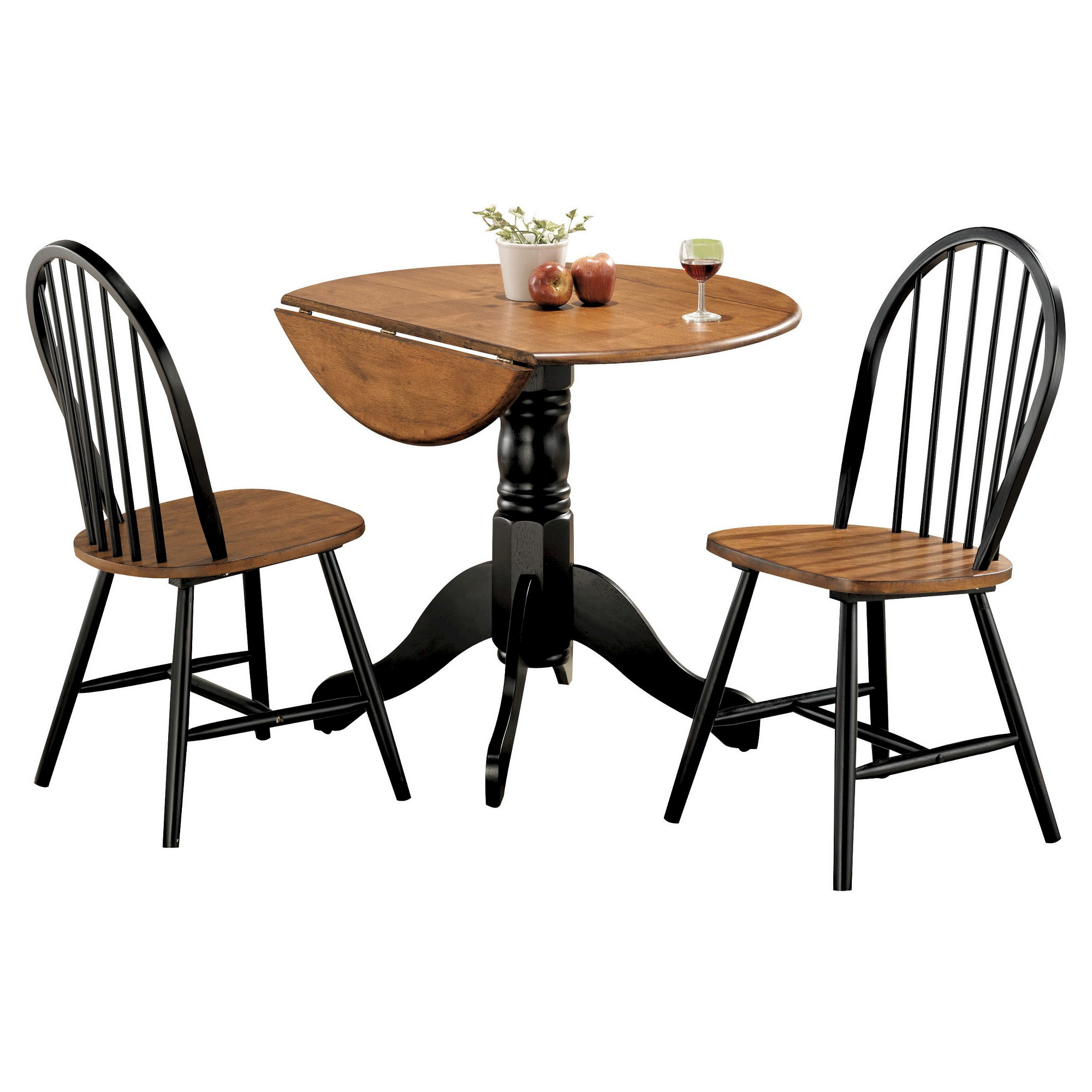 Mason 3 Piece Dining Set – Cherry And Black – Acme | Products | 3 Inside Newest Kaelin 5 Piece Dining Sets (View 12 of 20)