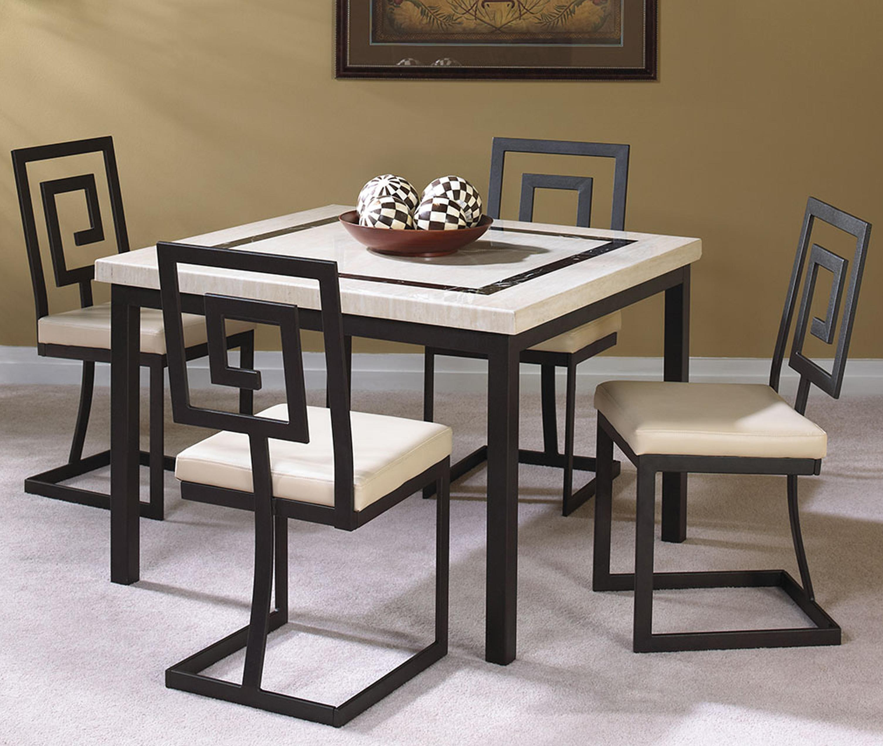 Maze 5 Piece Square Table And Side Chair Setcramco, Inc At Value City Furniture With Regard To Recent 5 Piece Dining Sets (View 9 of 20)