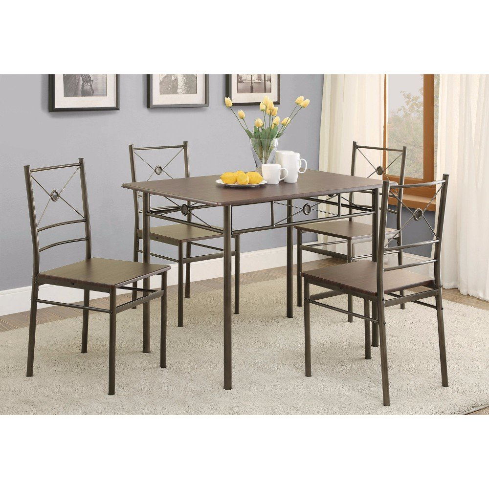 Mazzola 5 Piece Dining Set Pertaining To Latest Lightle 5 Piece Breakfast Nook Dining Sets (Photo 16 of 20)
