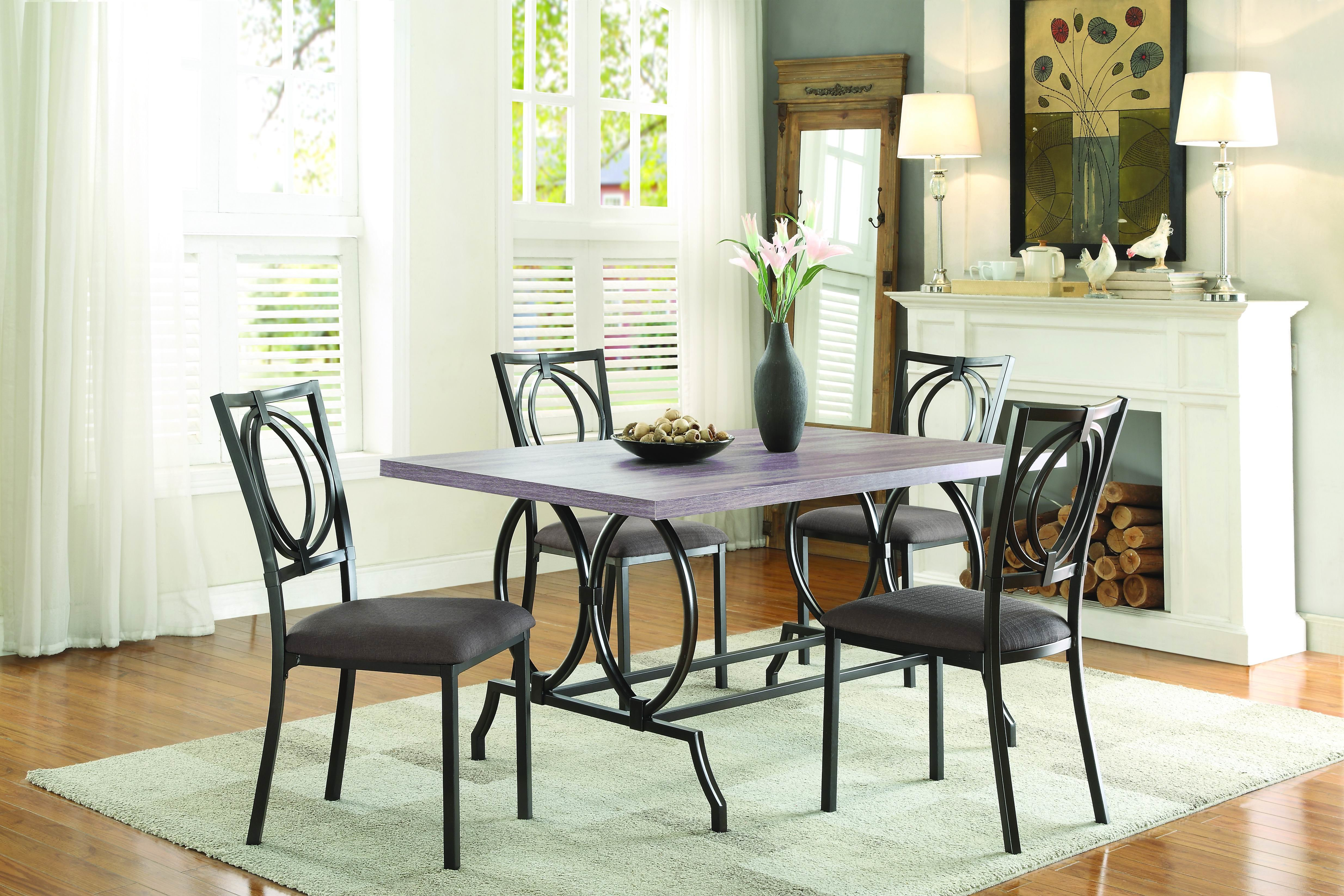 Mcnett 5 Piece Dining Set For Newest Mulvey 5 Piece Dining Sets (View 2 of 20)