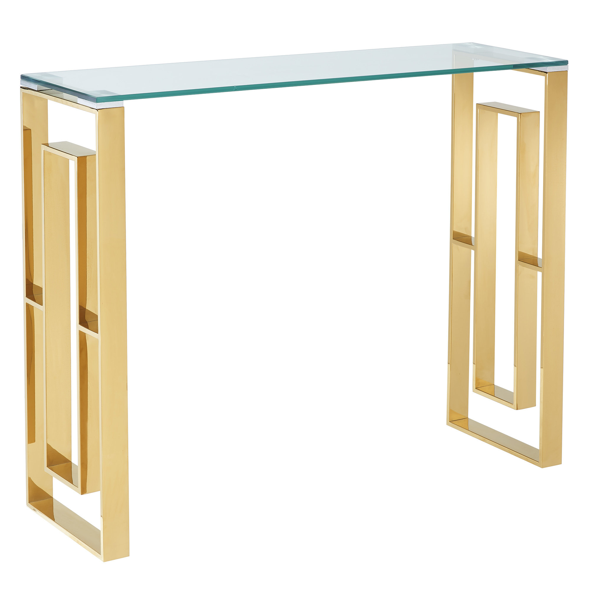 Menzel Stainless Steel Console Table Throughout Newest Yedinak 5 Piece Solid Wood Dining Sets (Photo 19 of 20)