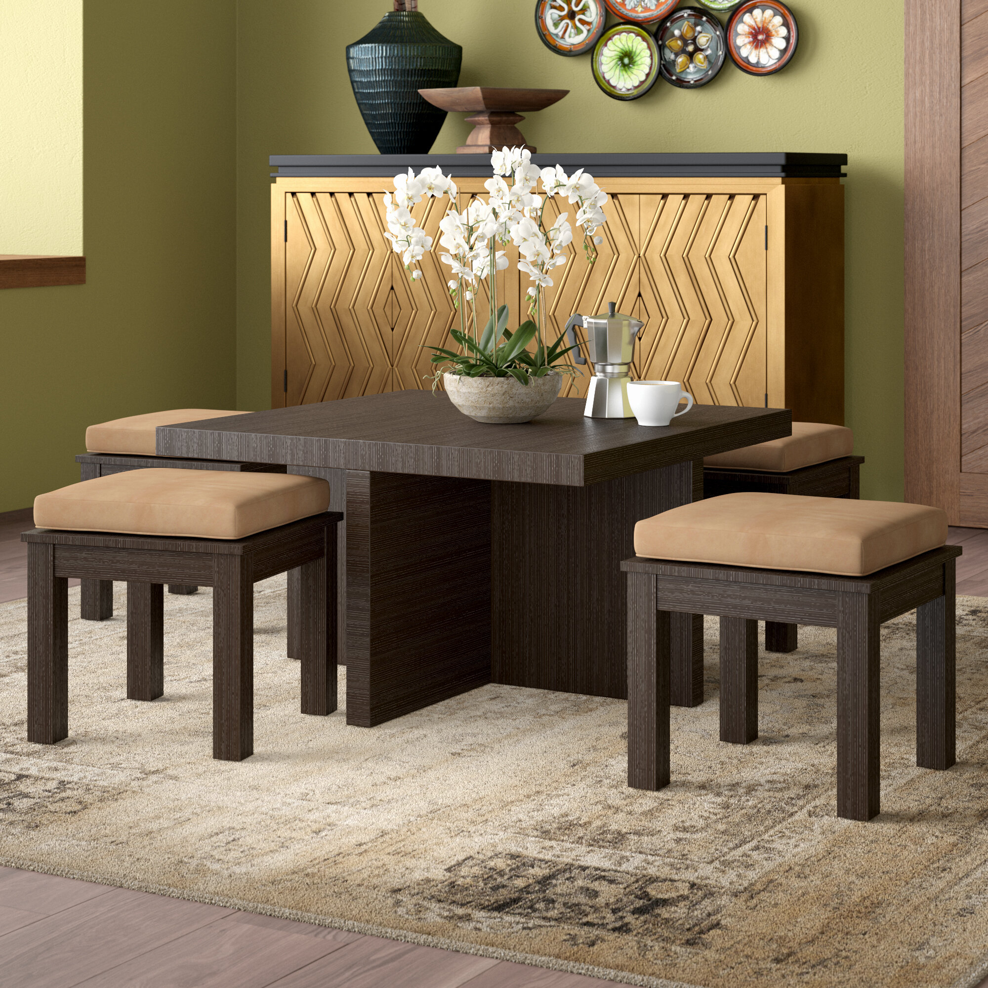 Mercedes 5 Piece Dining Set Throughout Recent Kerley 4 Piece Dining Sets (Image 10 of 20)