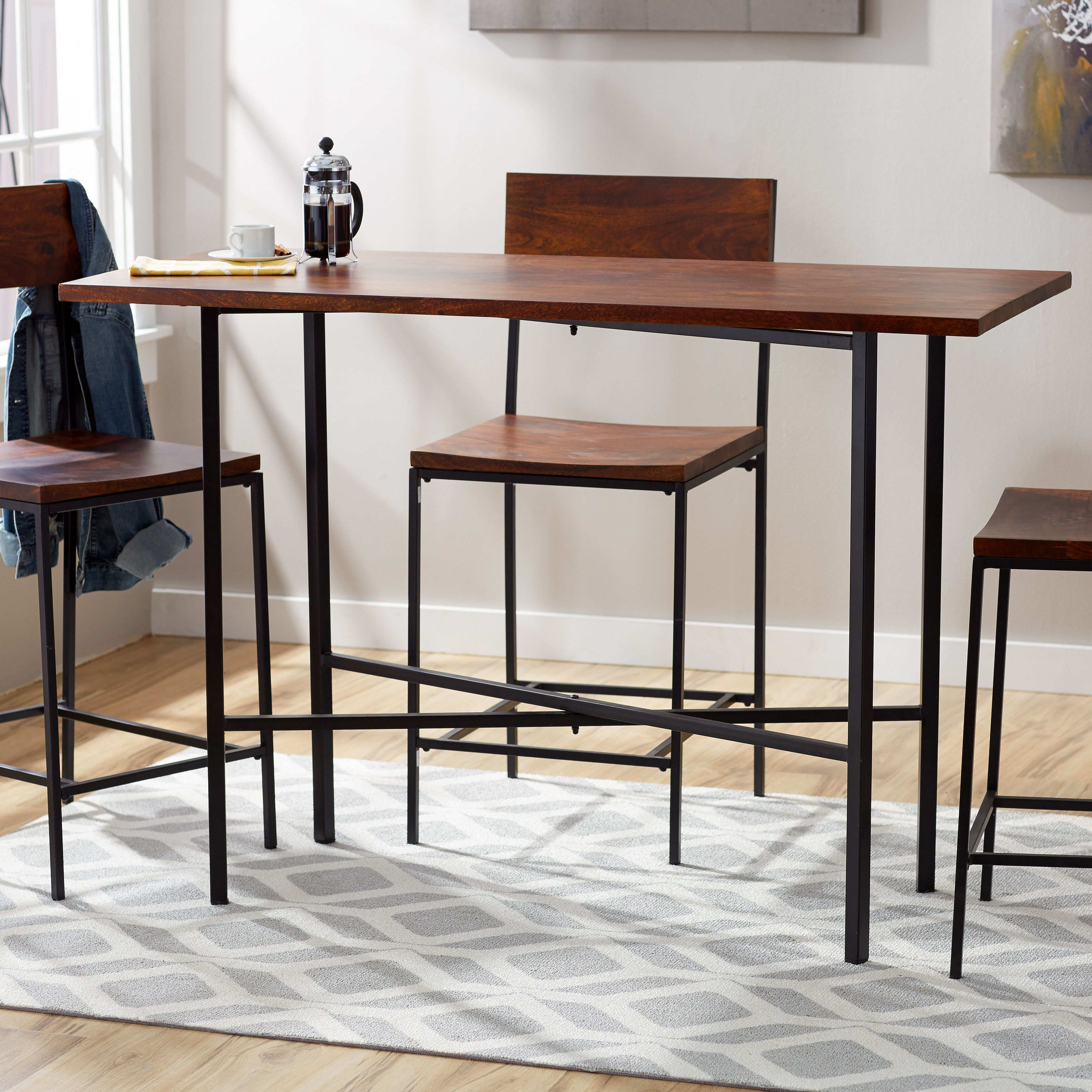 Mercury Row® Xenia Counter Height Pub Table | Office Decor | Counter Intended For Most Up To Date Denzel 5 Piece Counter Height Breakfast Nook Dining Sets (Image 17 of 20)