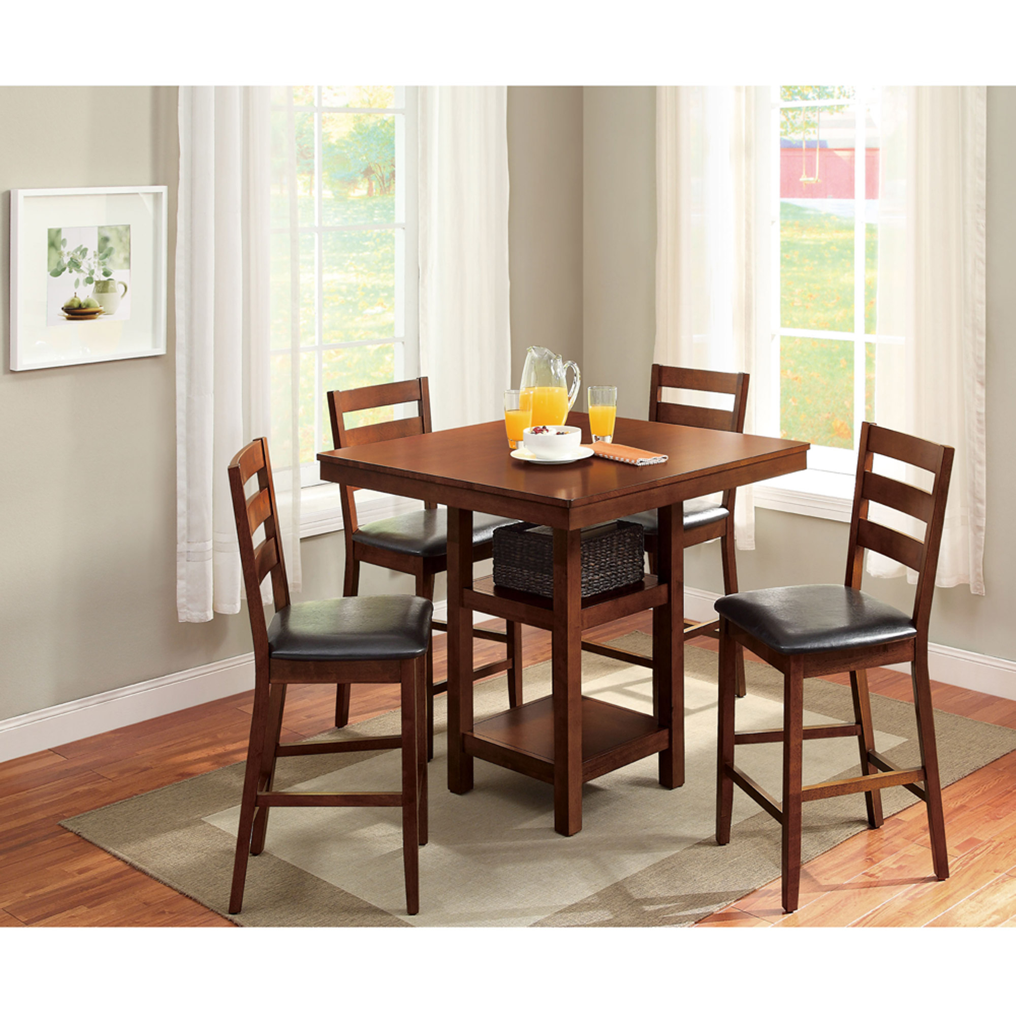 Metropolitan 3 Piece Dining Set, Multiple Finishes For Newest Rossiter 3 Piece Dining Sets (Photo 12 of 20)