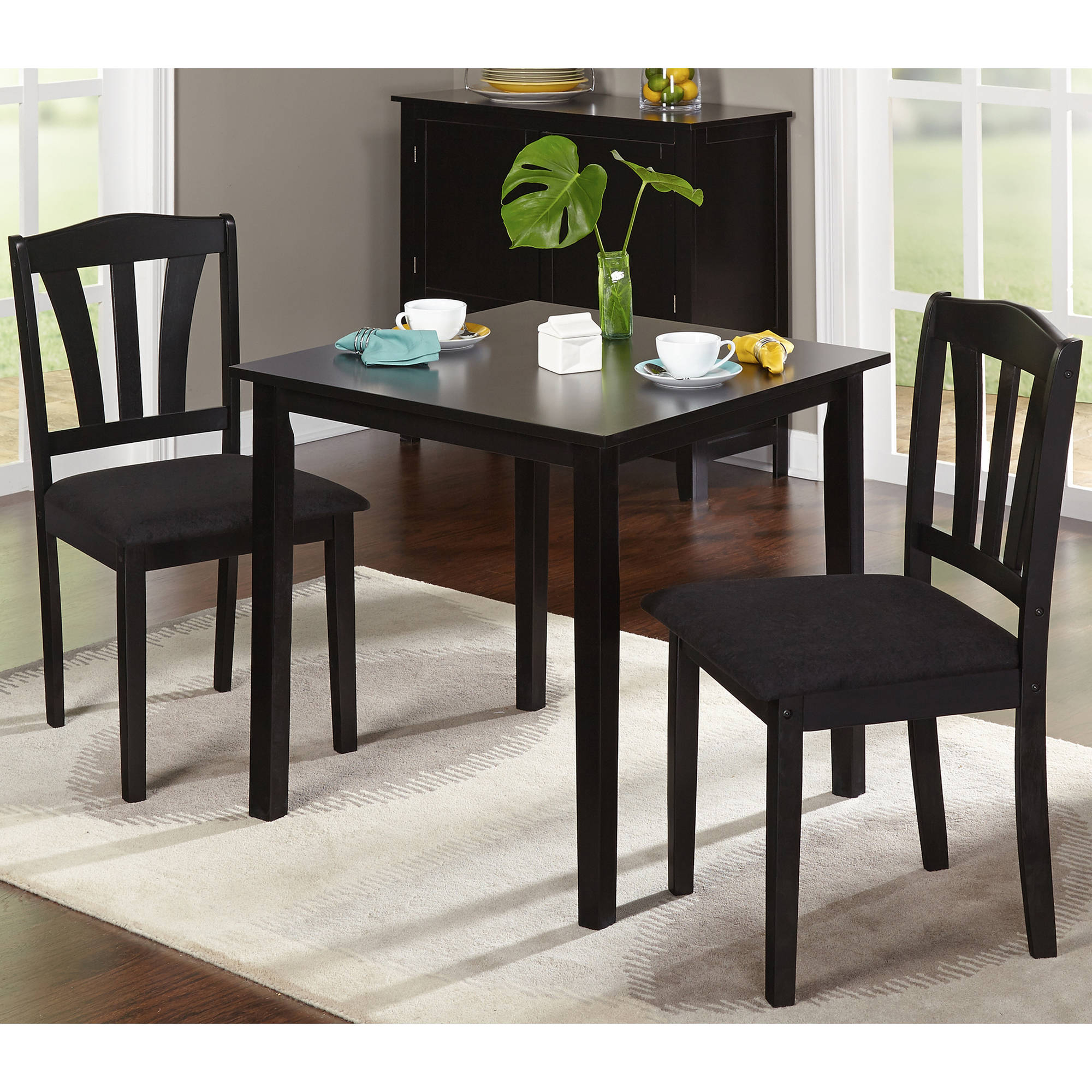 Metropolitan 3 Piece Dining Set, Multiple Finishes Intended For 2018 Rossiter 3 Piece Dining Sets (Image 8 of 20)